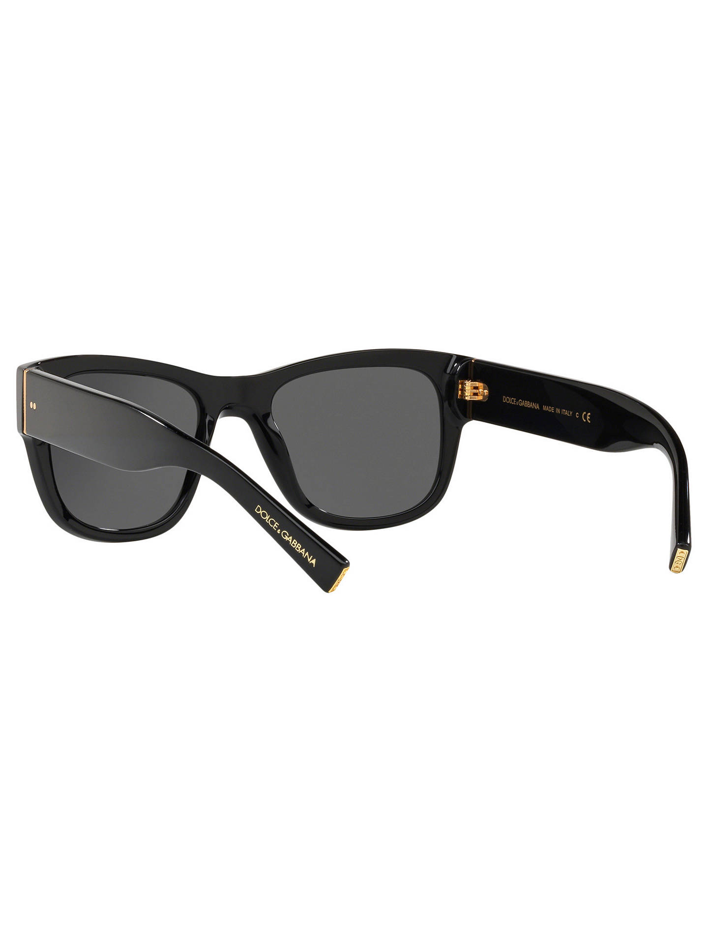 ff08fa3f2f9f ... Buy Dolce & Gabbana DG4338 Women's Square Frame Sunglasses, Black/Grey  Online at johnlewis ...