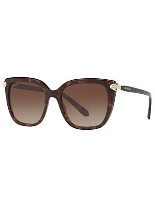 BVLGARI BV8207B Women's Embellished Square Sunglasses