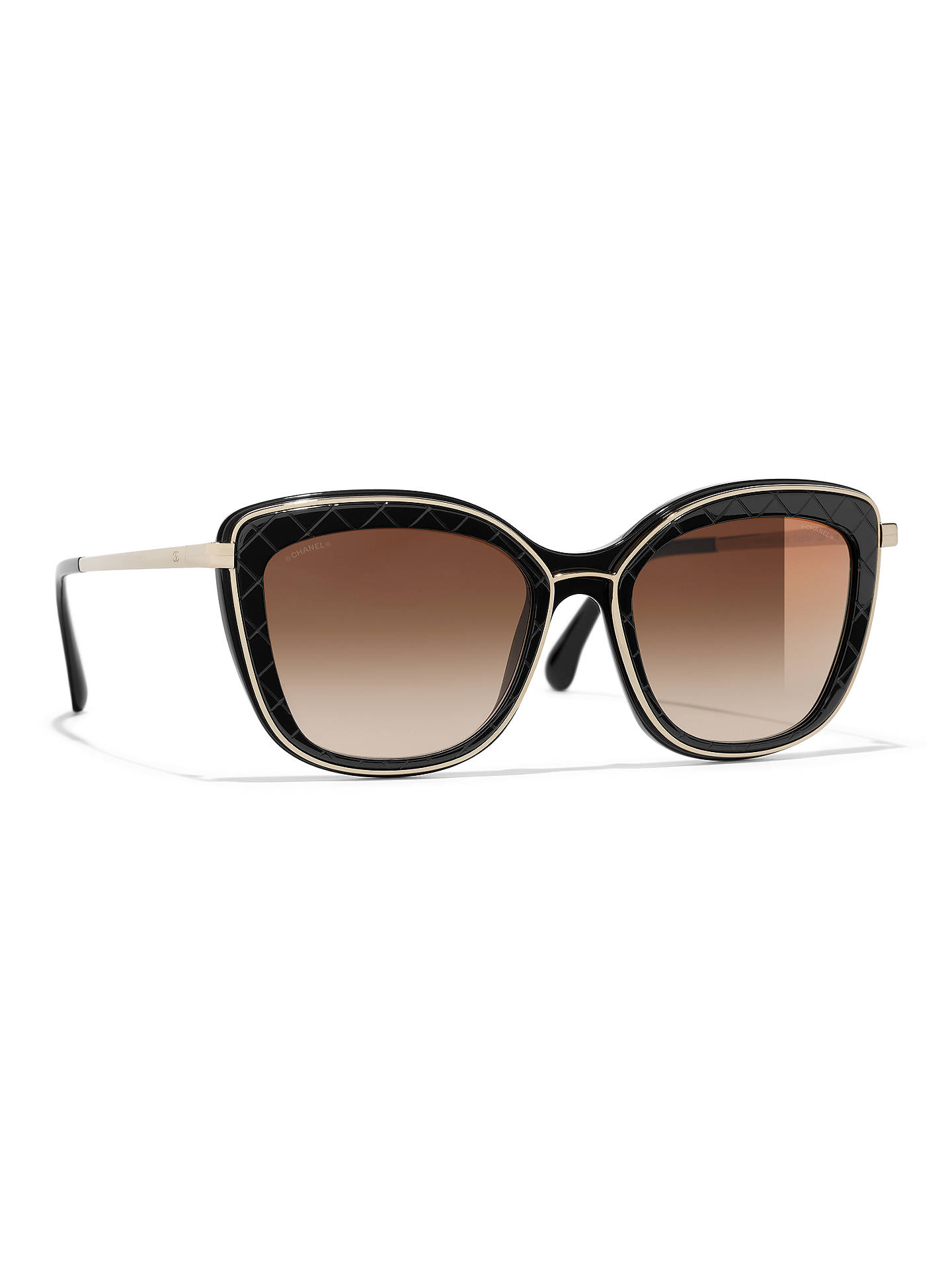 0b55196155645 Buy CHANEL Butterfly Sunglasses CH4238 Black Brown Gradient Online at  johnlewis.com ...