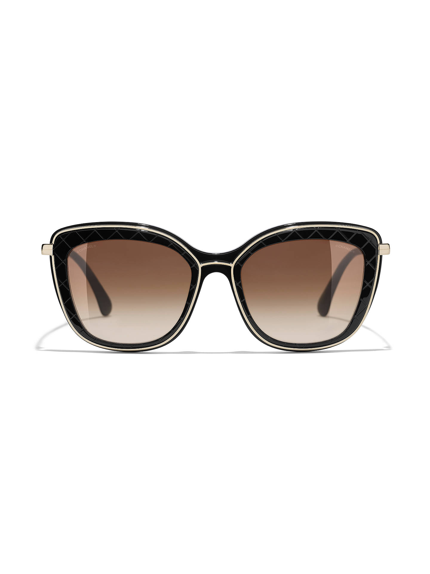 9557863e57085 ... Buy CHANEL Butterfly Sunglasses CH4238 Black Brown Gradient Online at  johnlewis.com ...