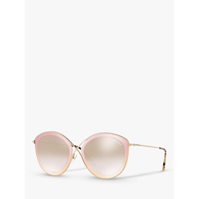 TOM FORD FT0604 Women's Sascha Cat's Eye Sunglasses, Gold/Mirror Brown