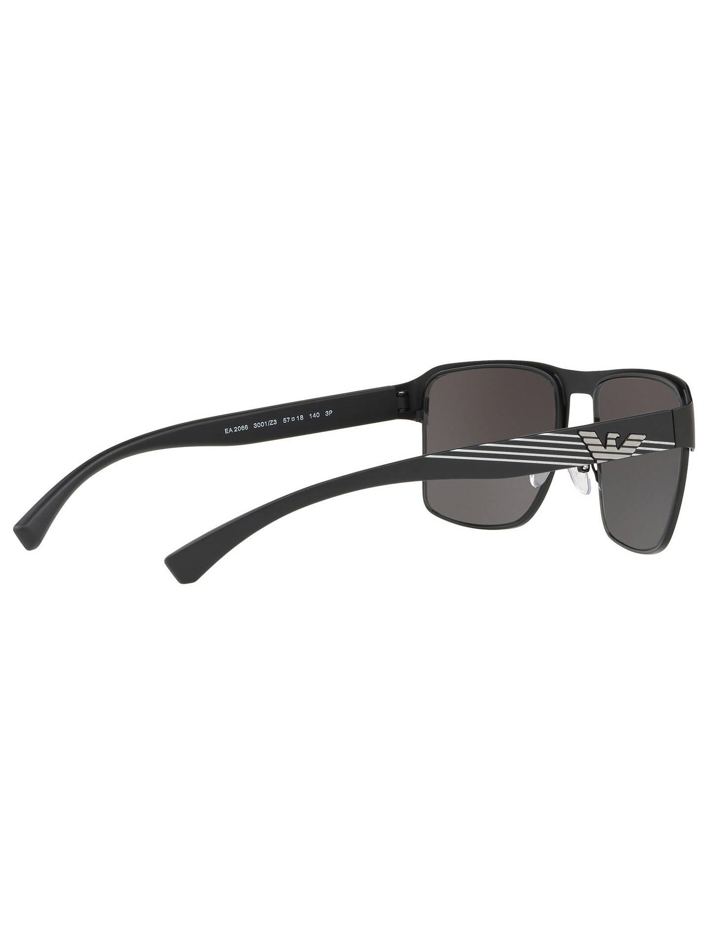 82b87c5e5 ... Buy Emporio Armani EA2066 Men's Polarised Square Sunglasses,  Black/Mirror Grey Online at johnlewis ...