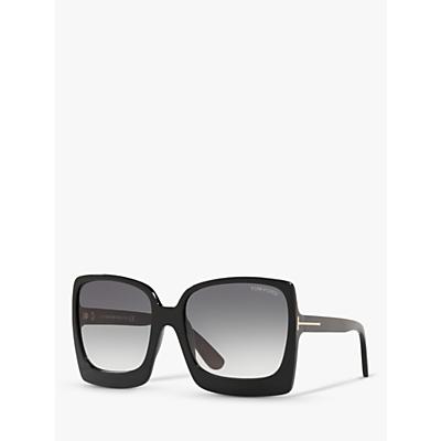 TOM FORD FT0617 Women's Katrine-02 Oversized Square Sunglasses, Black/Grey Gradient