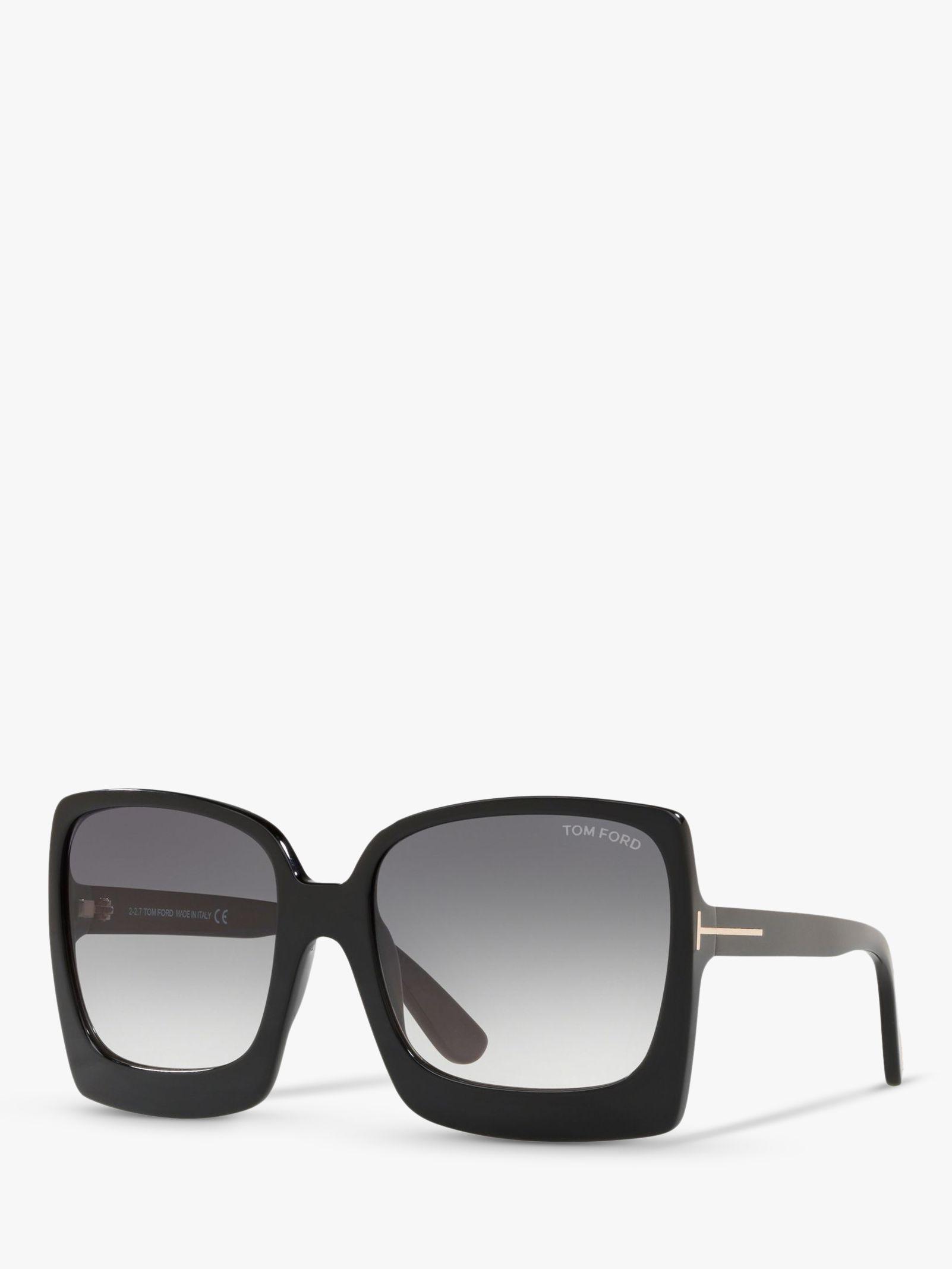 Tom Ford TOM FORD FT0617 Women's Katrine-02 Oversized Square Sunglasses, Black/Grey Gradient