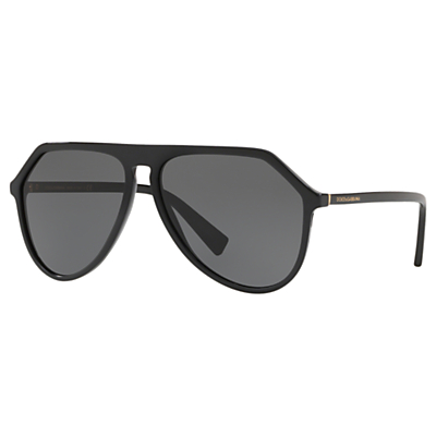 Dolce & Gabbana DG4341 Women's Aviator Sunglasses, Black/Grey