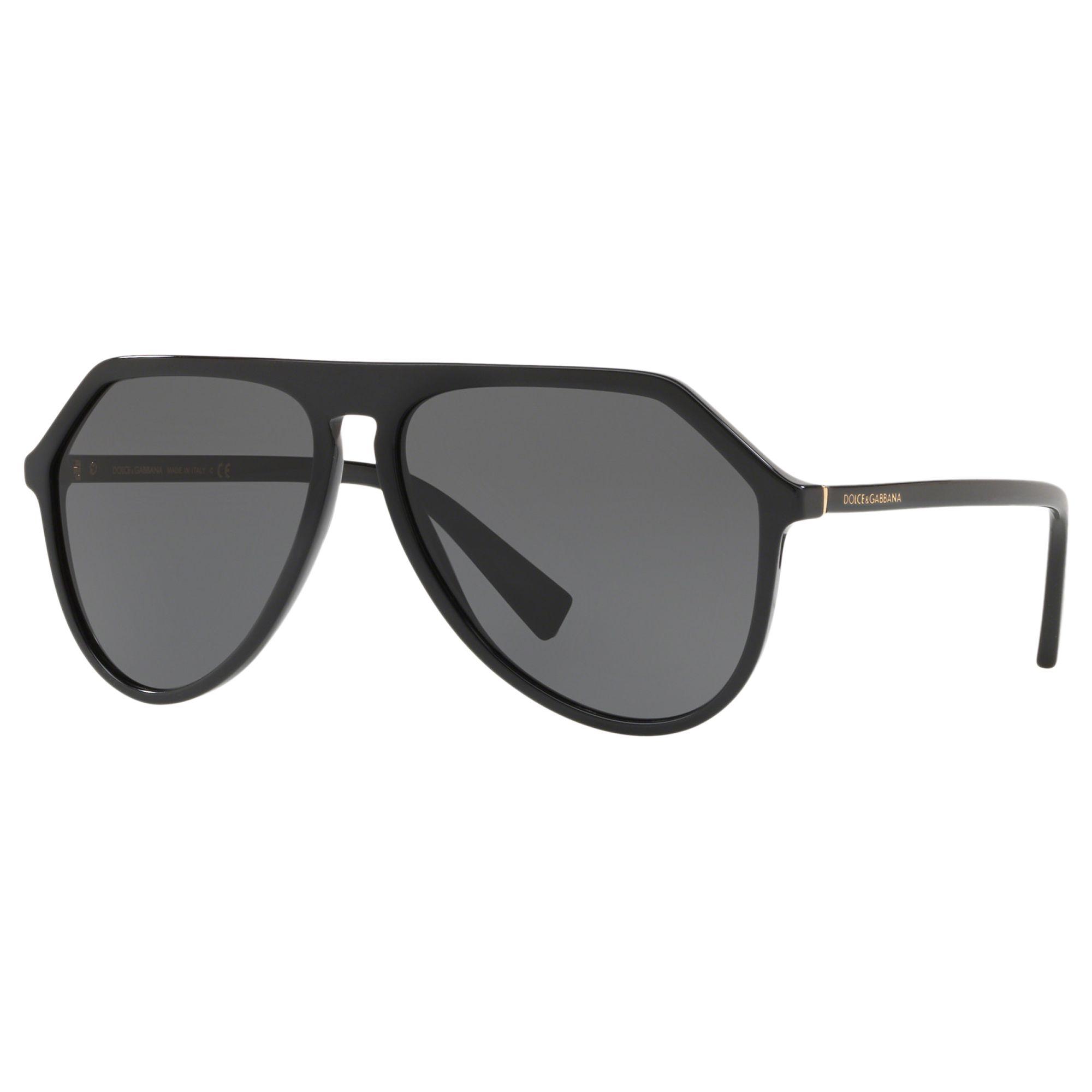 Dolce & Gabbana Dolce & Gabbana DG4341 Women's Aviator Sunglasses, Black/Grey