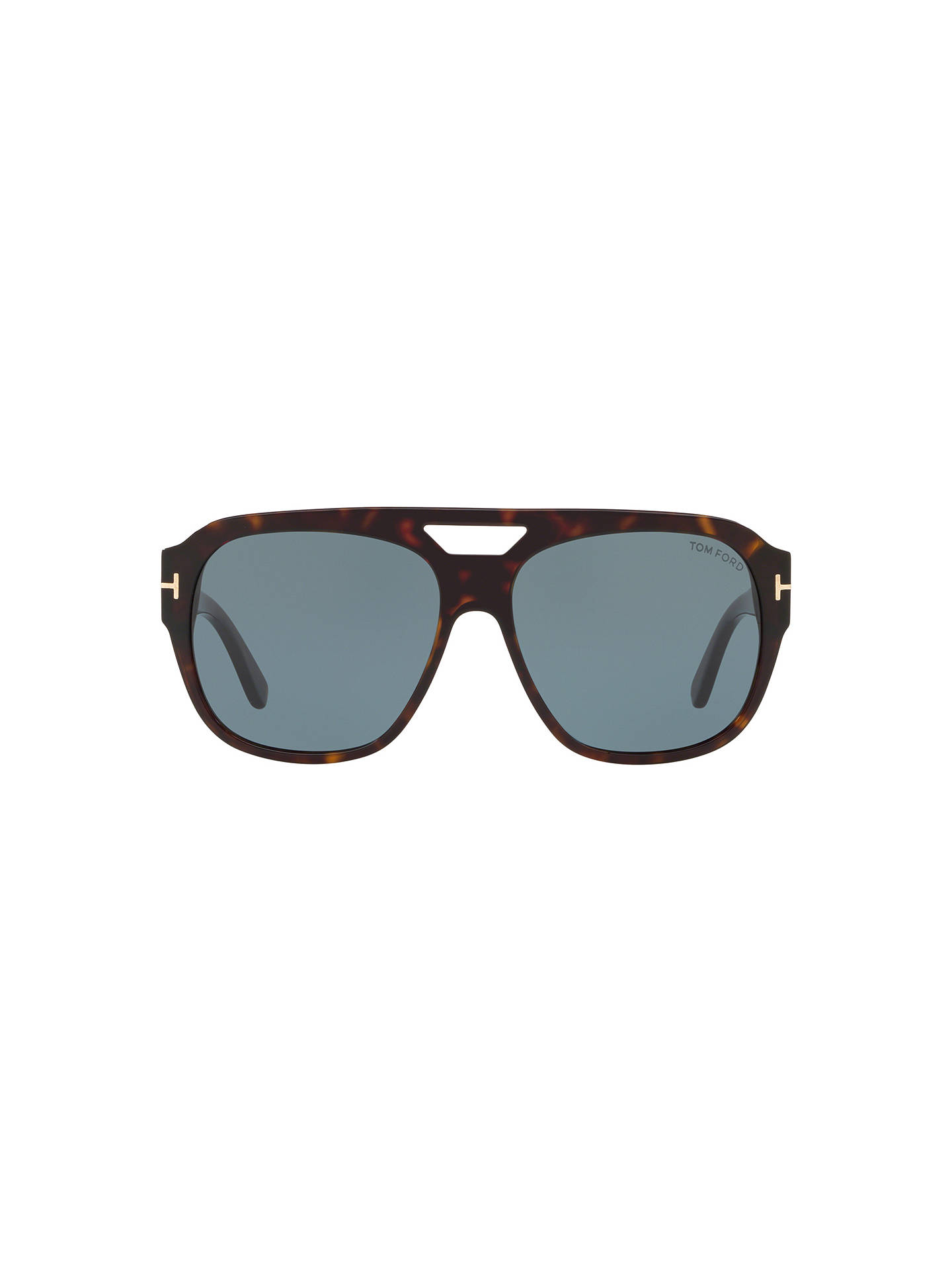Buy TOM FORD FT0630 Unisex Bachardy-02 Square Sunglasses, Tortoise/Blue Online at johnlewis.com