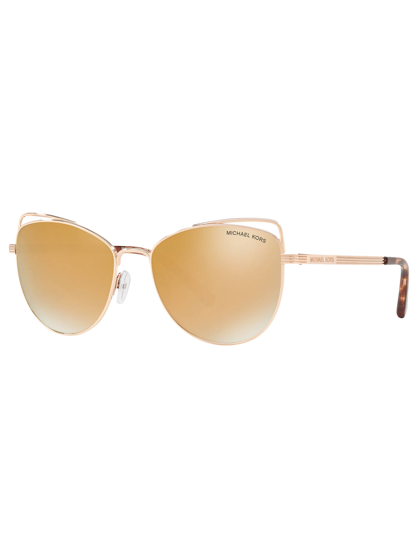 c211544714c8 Buy Michael Kors MK1035 Women's St. Lucia Cat's Eye Sunglasses, Rose Gold/Mirror  ...