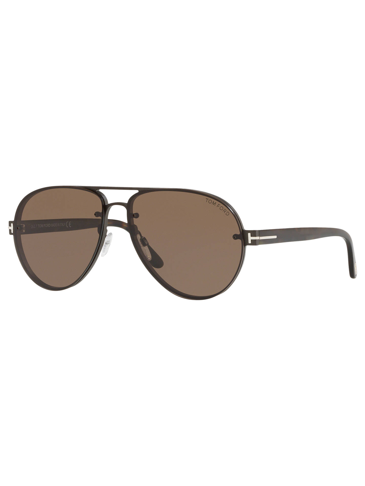 20f6ec66a5 TOM FORD FT0622 Men s Alexei-02 Aviator Sunglasses at John Lewis ...