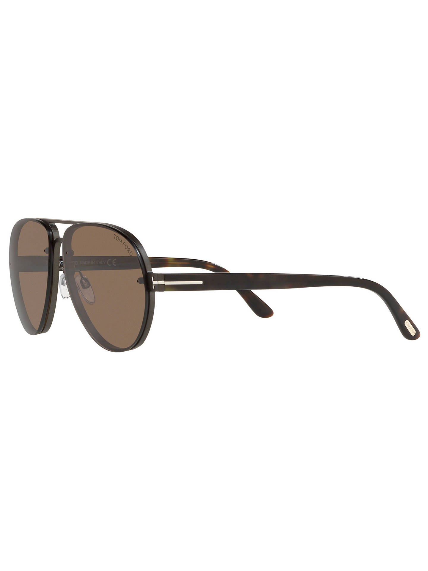 BuyTOM FORD FT0622 Men's Alexei-02 Aviator Sunglasses, Grey/Brown Online at johnlewis.com