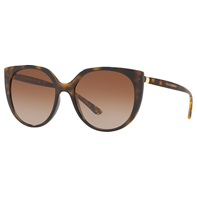 Dolce & Gabbana DG6119 Women's Oval Sunglasses, Tortoise/Brown Gradient