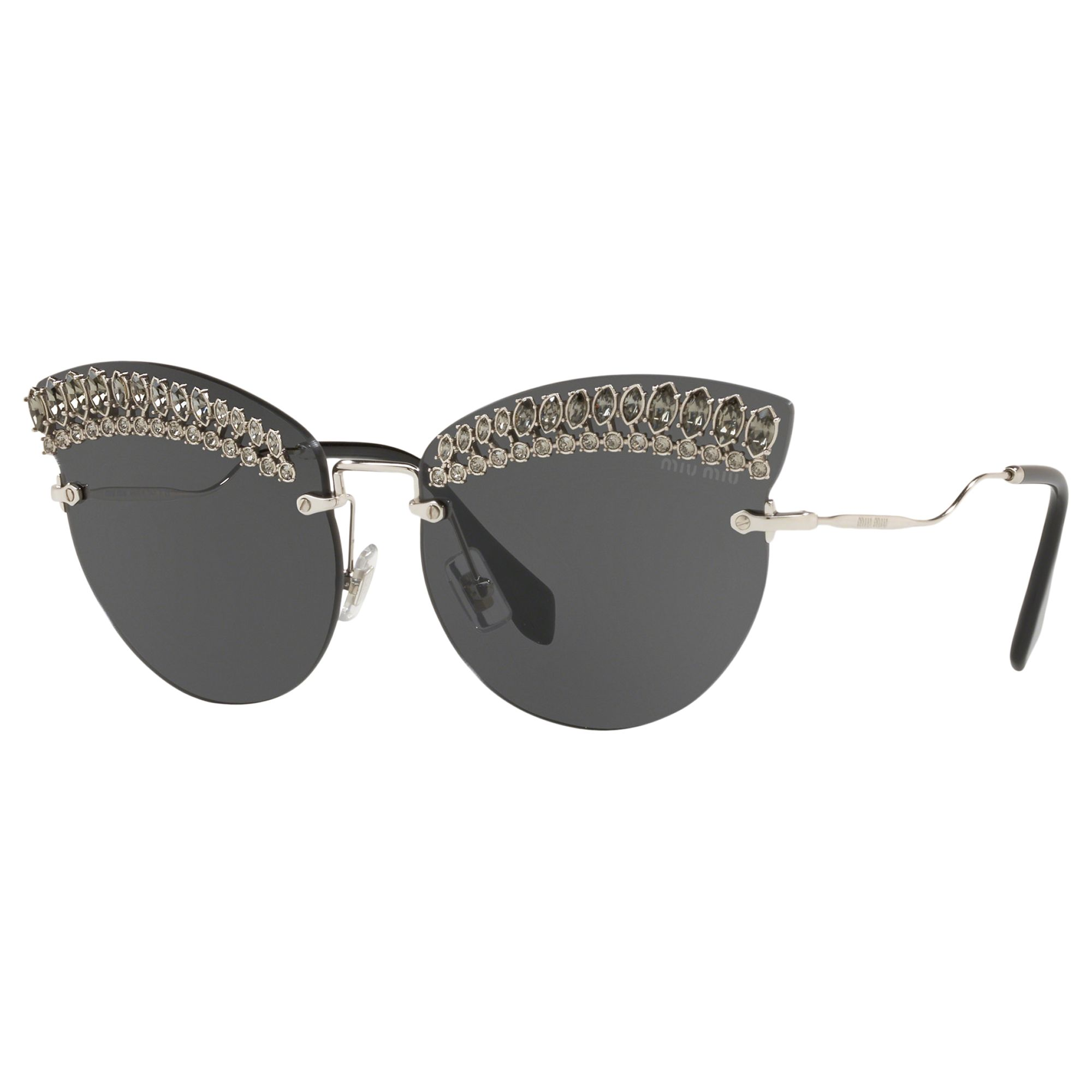 Miu Miu Miu Miu MU 58TS Women's Crystal Embellished Cat's Eye Sunglasses