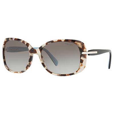 Prada PR08OS Oversized Rectangular Sunglasses, Brown/Grey Gradient