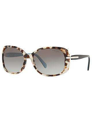 Prada PR08OS Oversized Rectangular Sunglasses, Brown/Grey Gradient