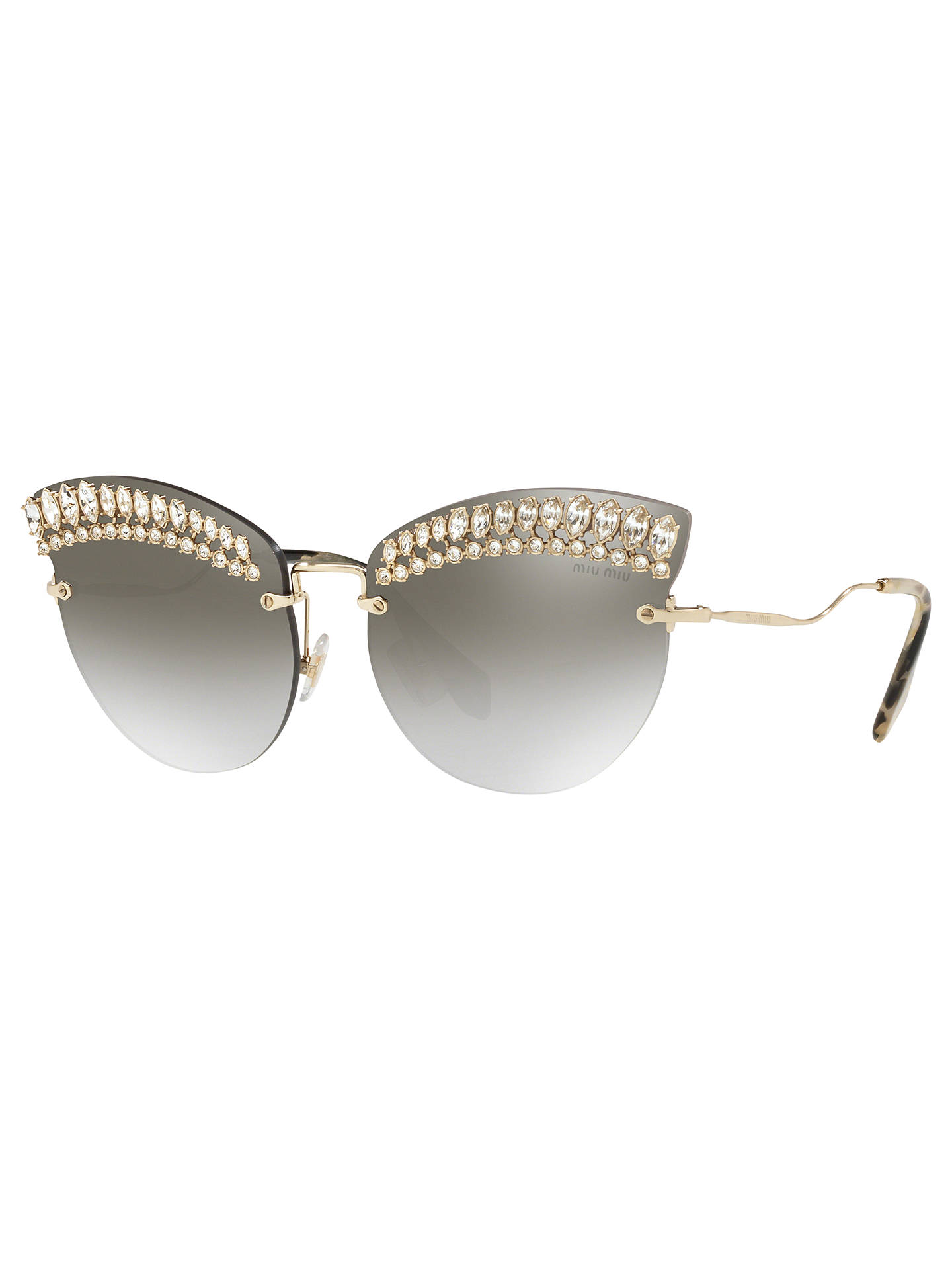 253ced4a1526 Miu Miu MU 58TS Women s Crystal Embellished Cat s Eye Sunglasses at ...