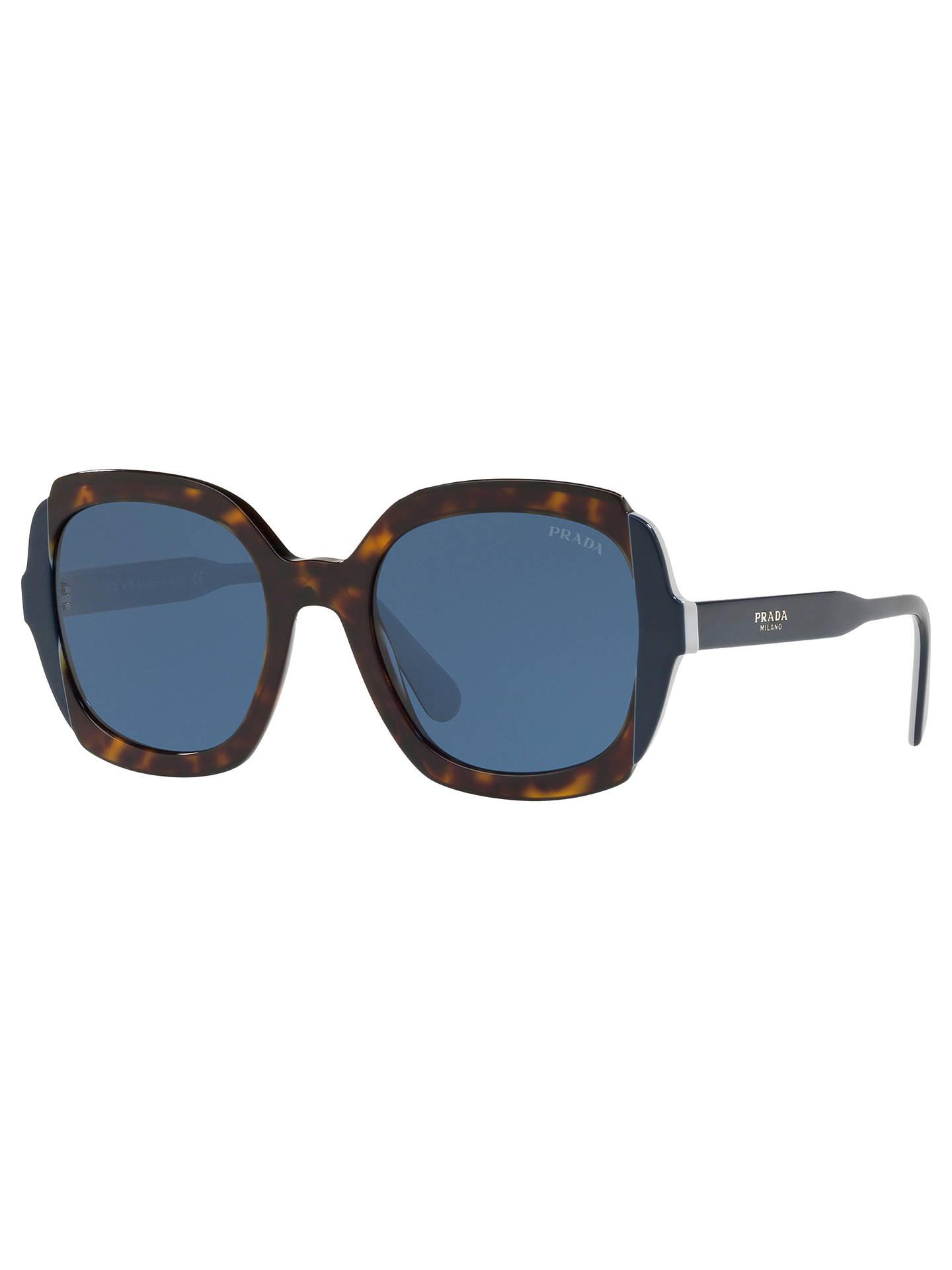 63f7619df98e Buy Prada 16US Women's Square Sunglasses, Black Online at johnlewis. ...