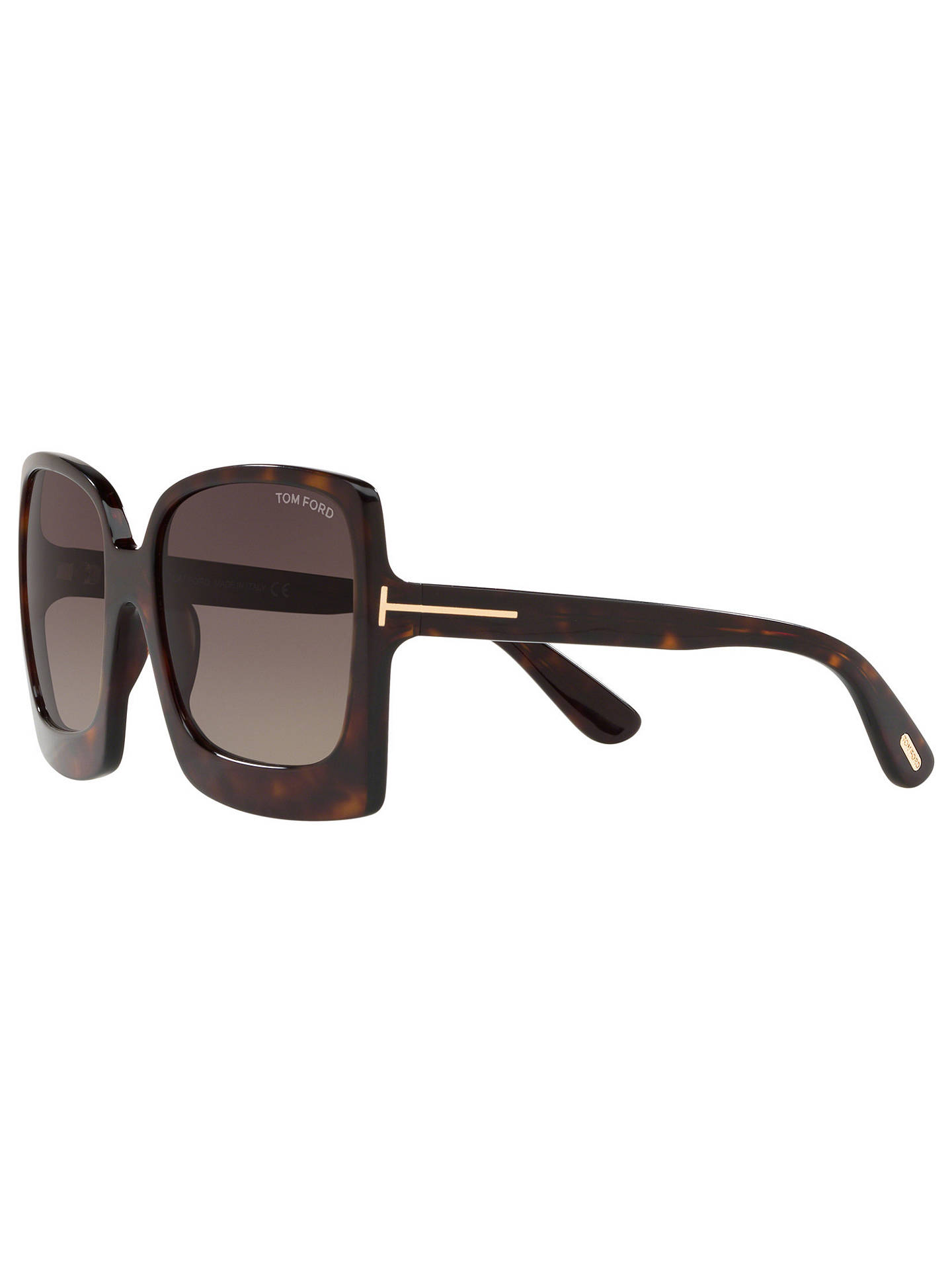 Buy TOM FORD FT0617 Women's Katrine-02 Oversized Square Sunglasses, Tortoise/Brown Gradient Online at johnlewis.com