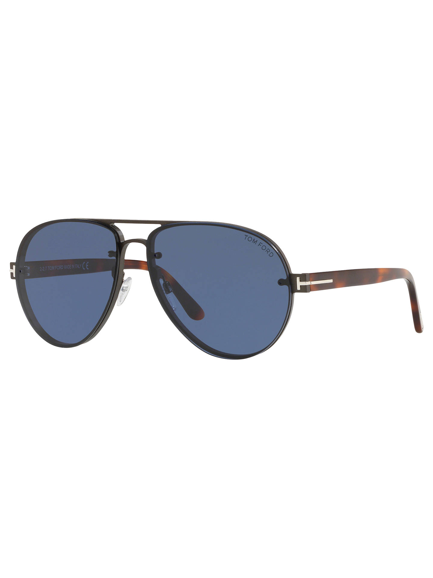 e512eeb697b71 TOM FORD FT0622 Men s Alexei-02 Aviator Sunglasses at John Lewis ...