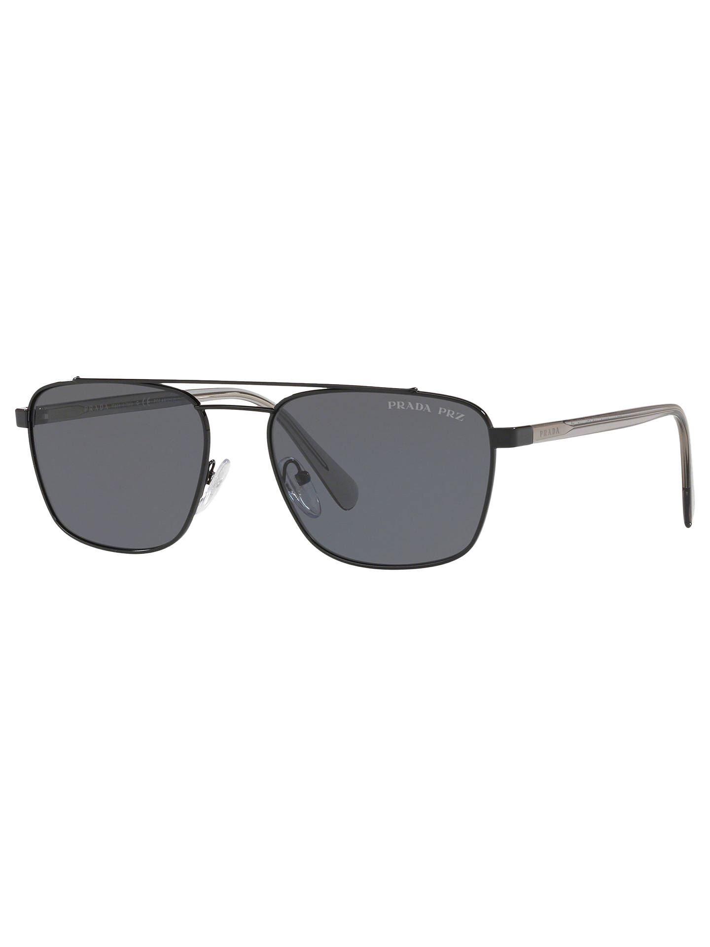 eeb16066a1 ... australia buyprada pr 61us mens polarised square sunglasses black grey  online at johnlewis. 3bc1b 345af