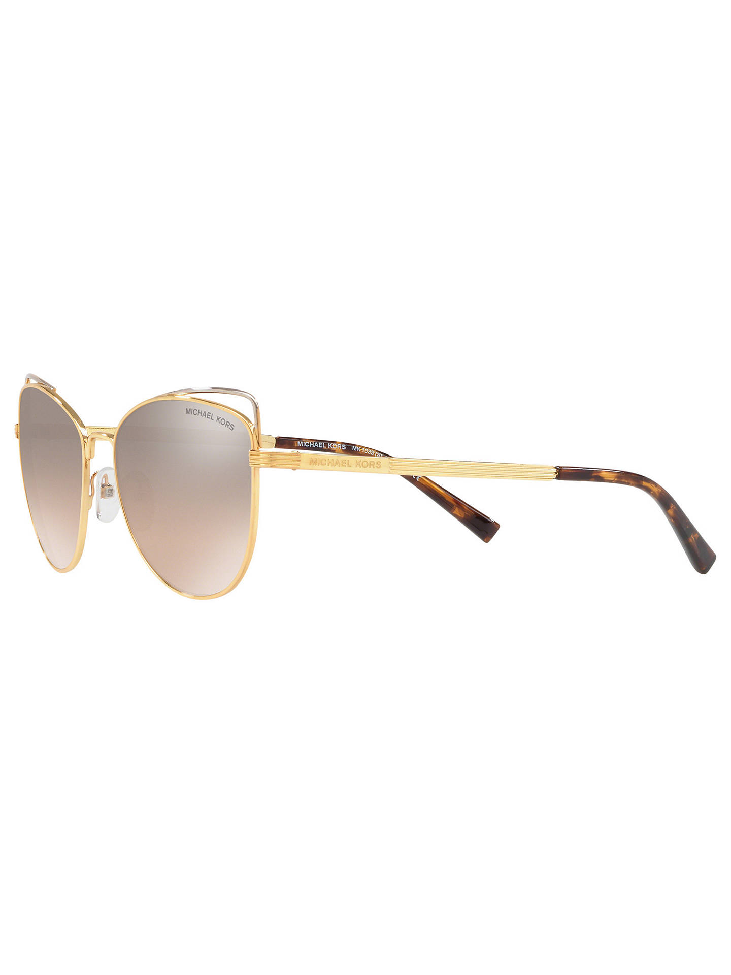 34dce0262b3 Michael Kors MK1035 Women s St. Lucia Cat s Eye Sunglasses at John ...