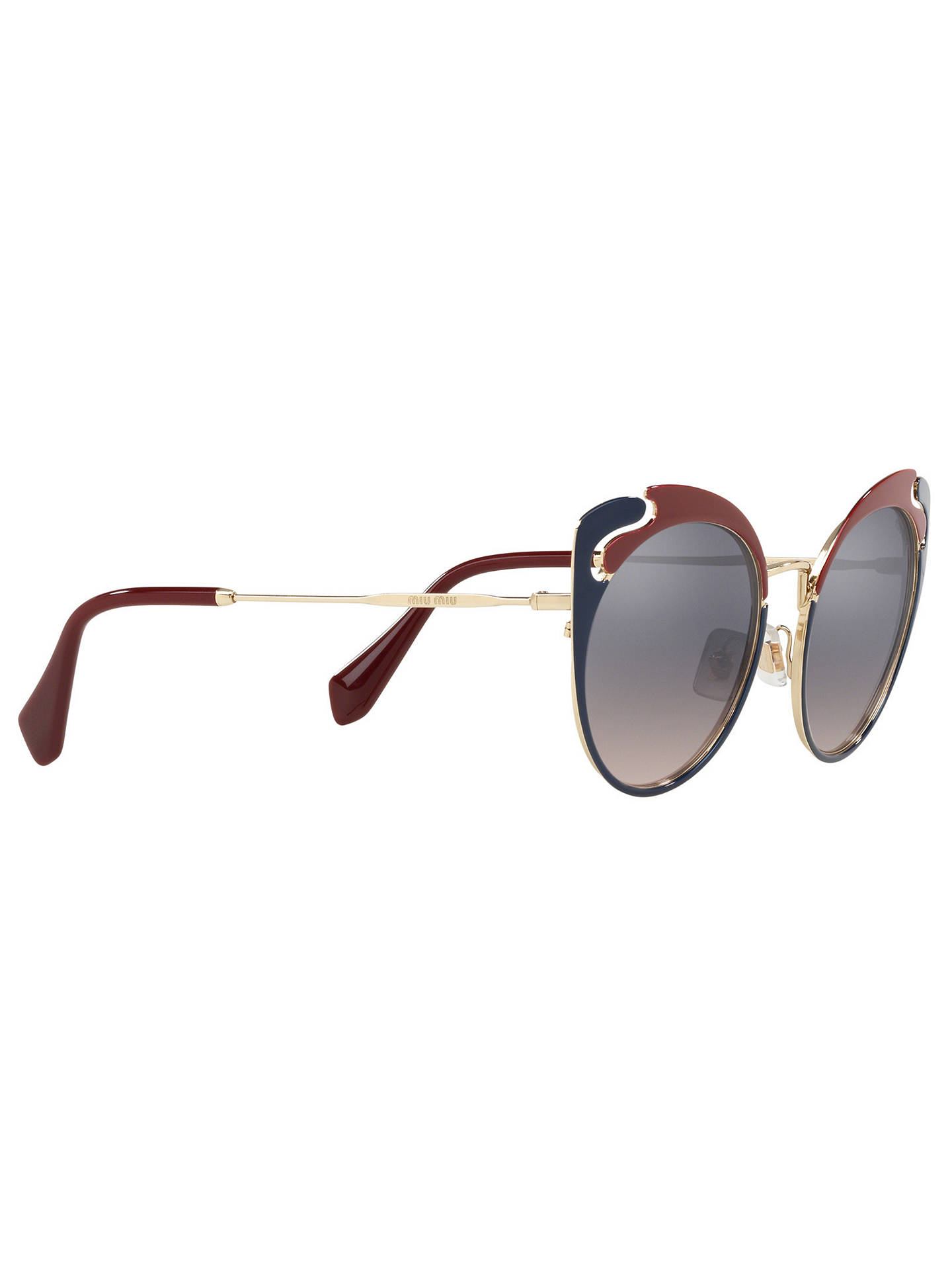 b5632d9f182 Miu Miu MU 57TS Women s Cat s Eye Sunglasses at John Lewis   Partners