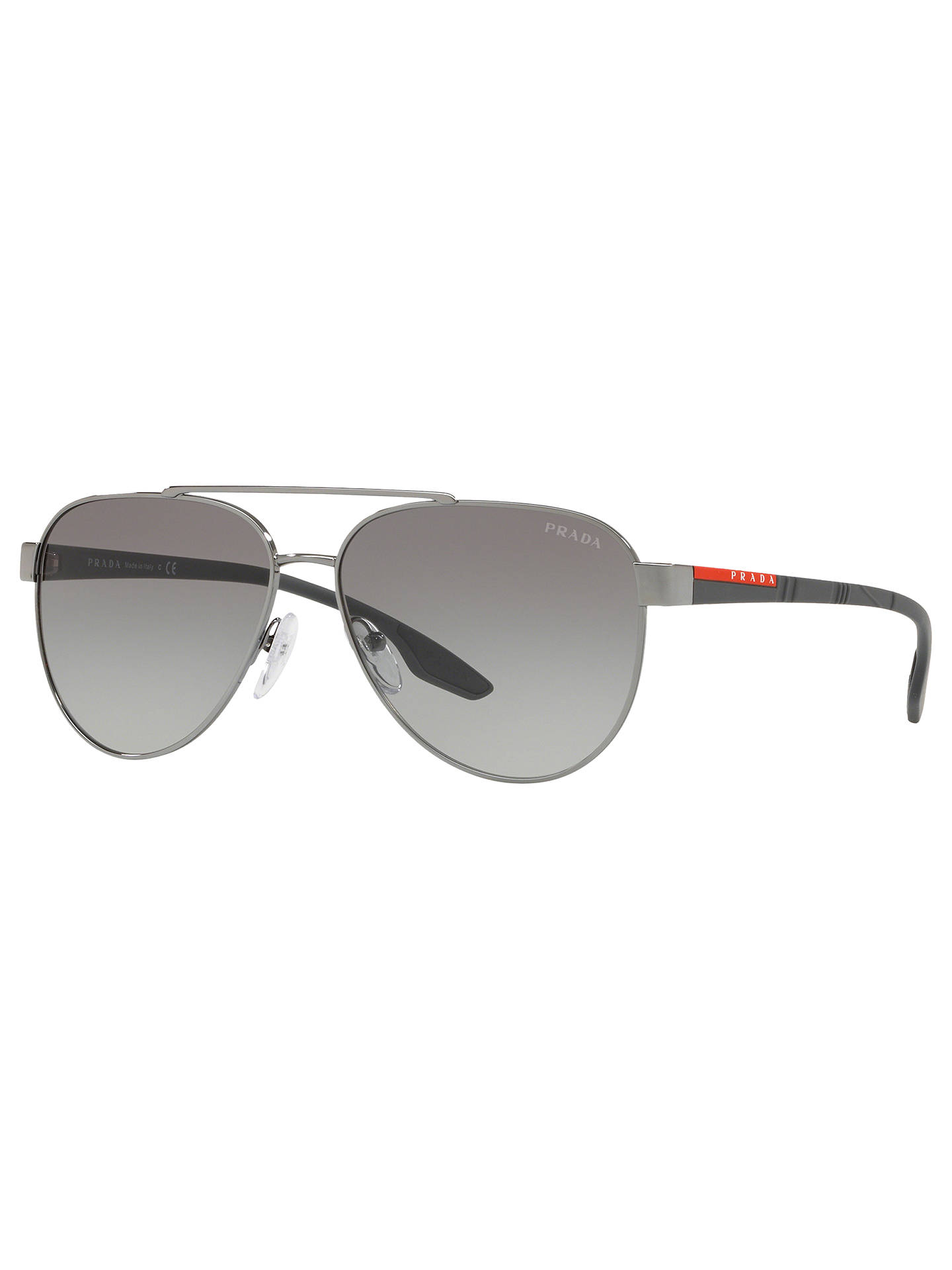 92ace957d053 Buy Prada Linea Rossa PS 54TS Men's Aviator Sunglasses, Gunmetal/Grey  Gradient Online at ...