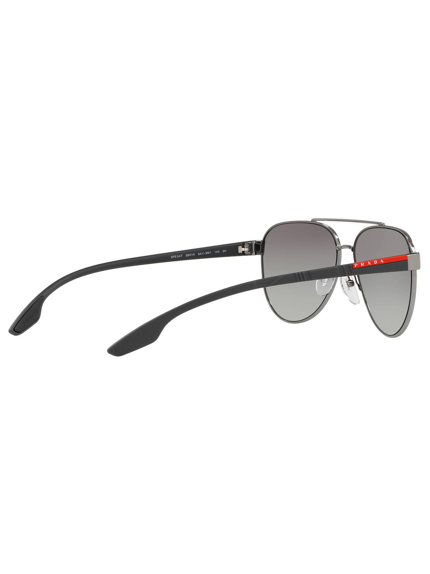 0dca5a8d1234a ... order buyprada linea rossa ps 54ts mens aviator sunglasses gunmetal  grey gradient online at johnlewis 3a634
