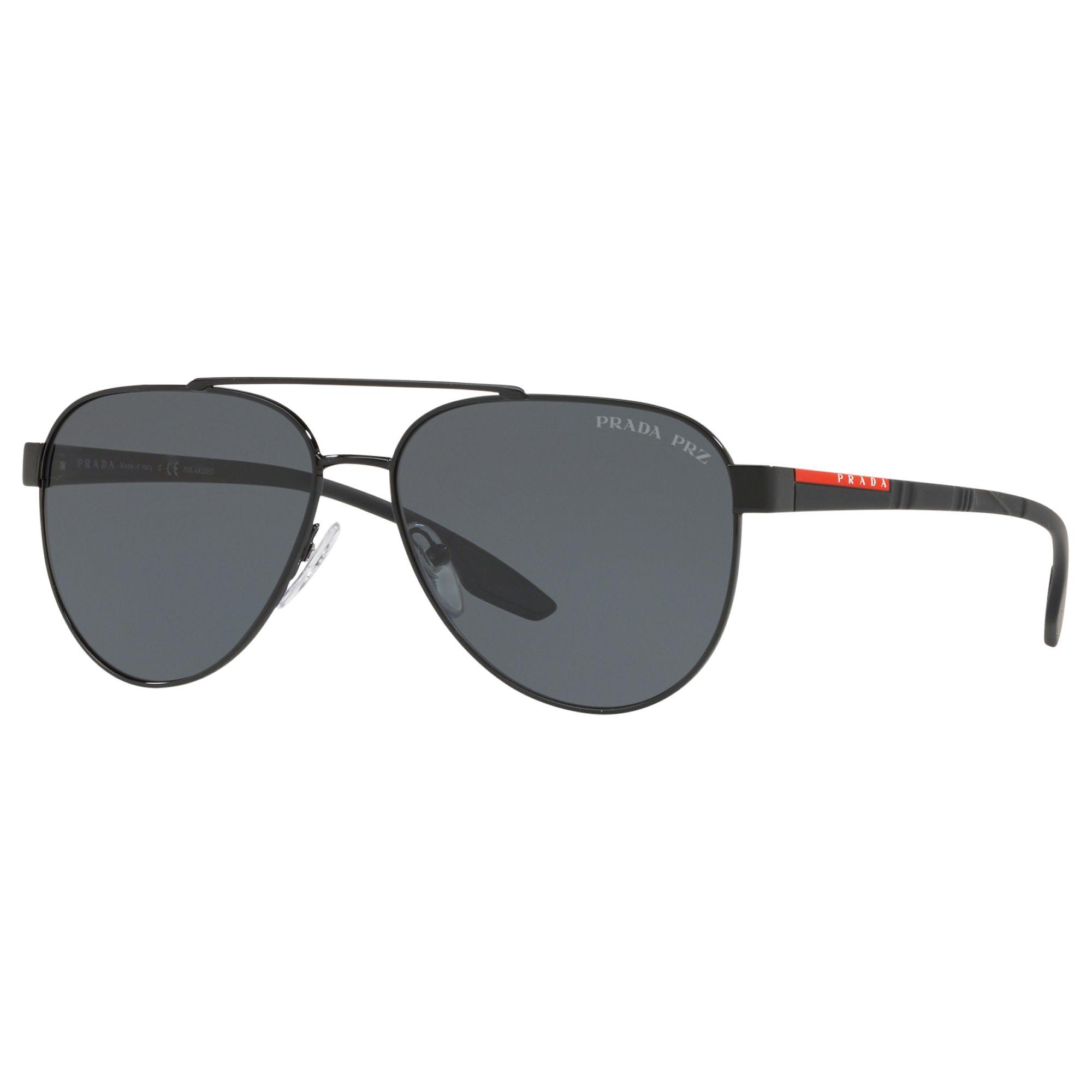 c52ae54a67a1 Prada Linea Rossa PS 54TS Men's Polarised Aviator Sunglasses at John Lewis  & Partners
