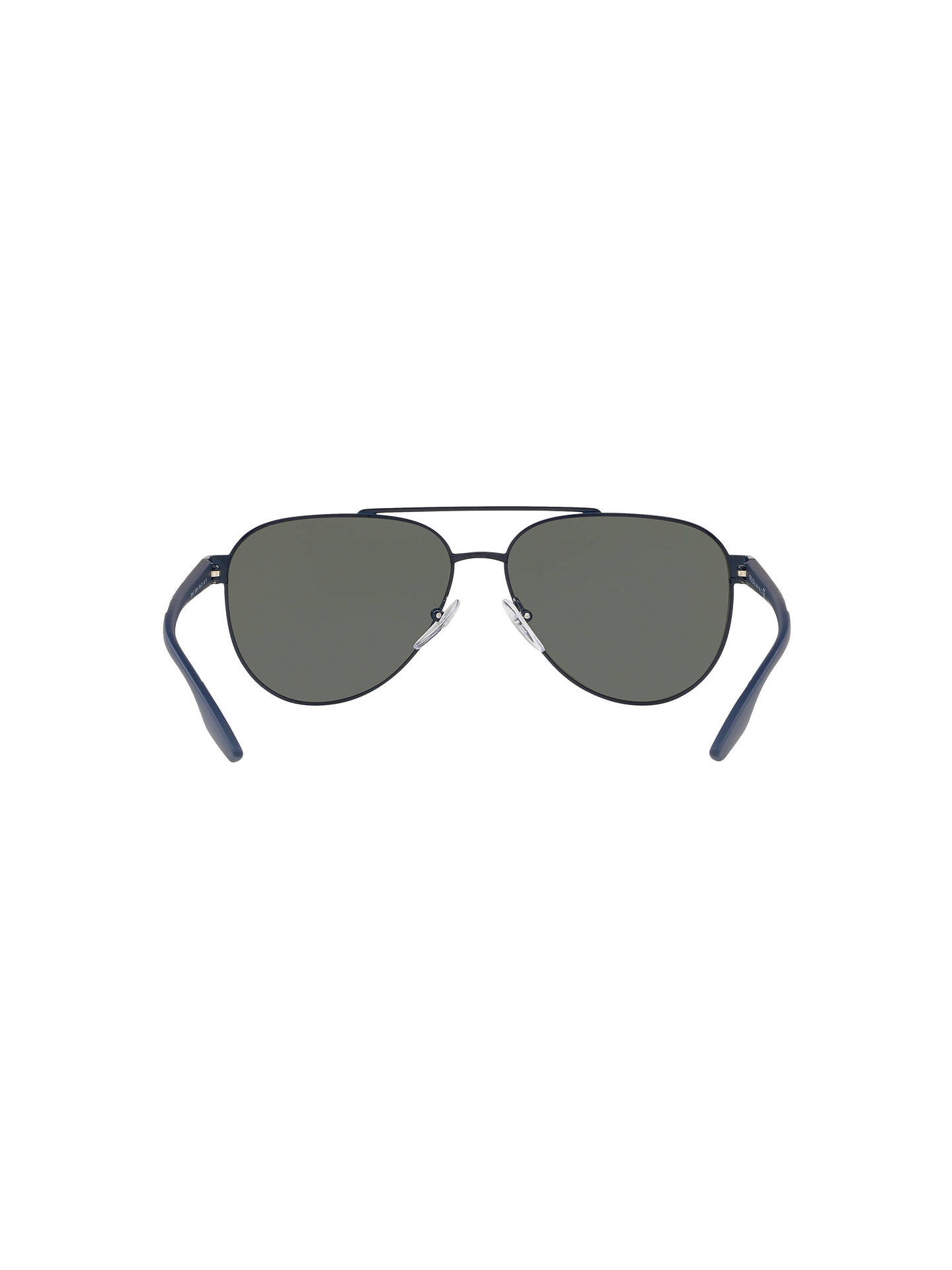BuyPrada Linea Rossa PS 54TS Men's Aviator Sunglasses, Navy/Mirror Green Online at johnlewis.com