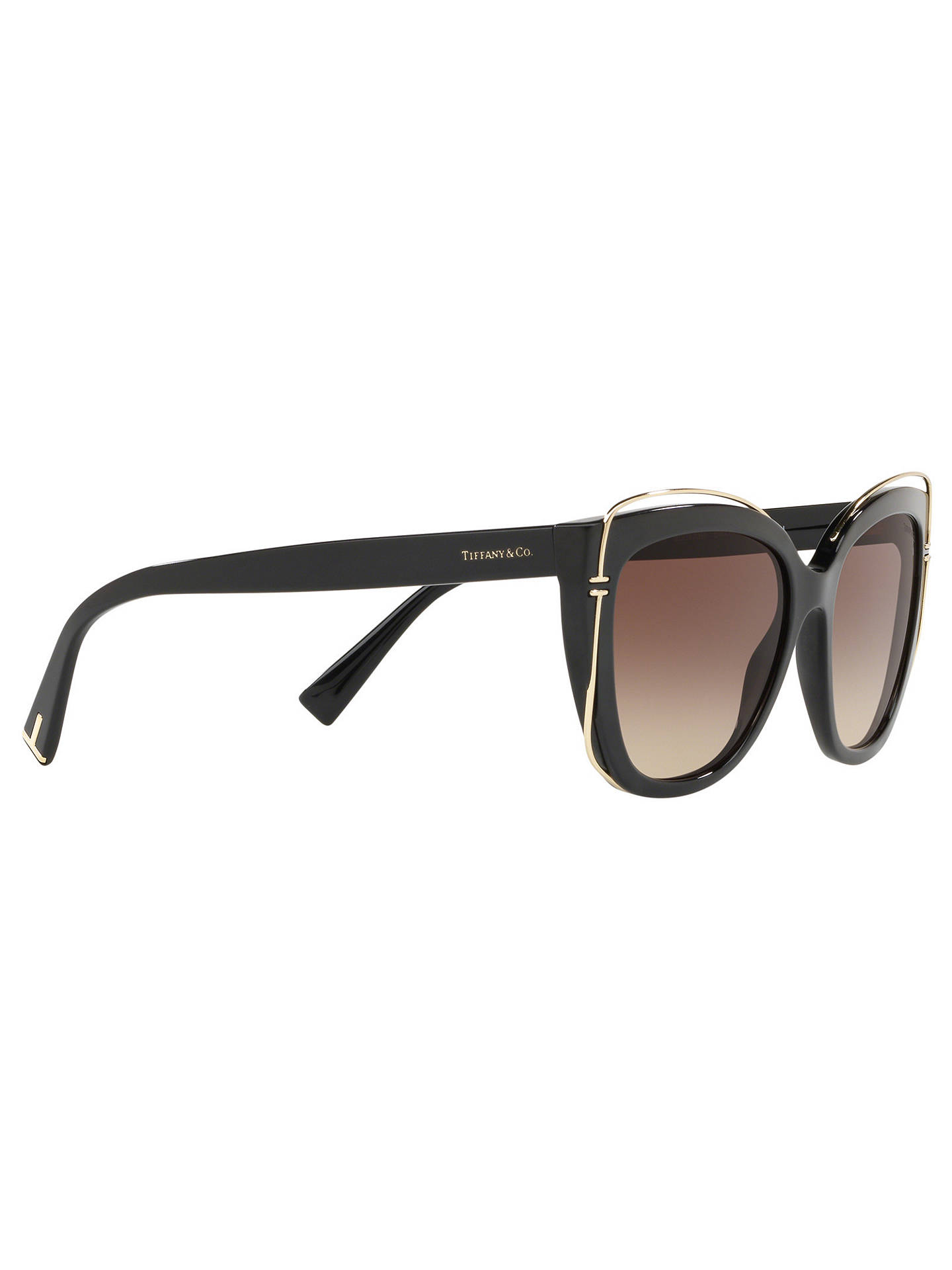 BuyTiffany & Co TF4148 Women's Cat's Eye Sunglasses, Black/Brown Gradient Online at johnlewis.com