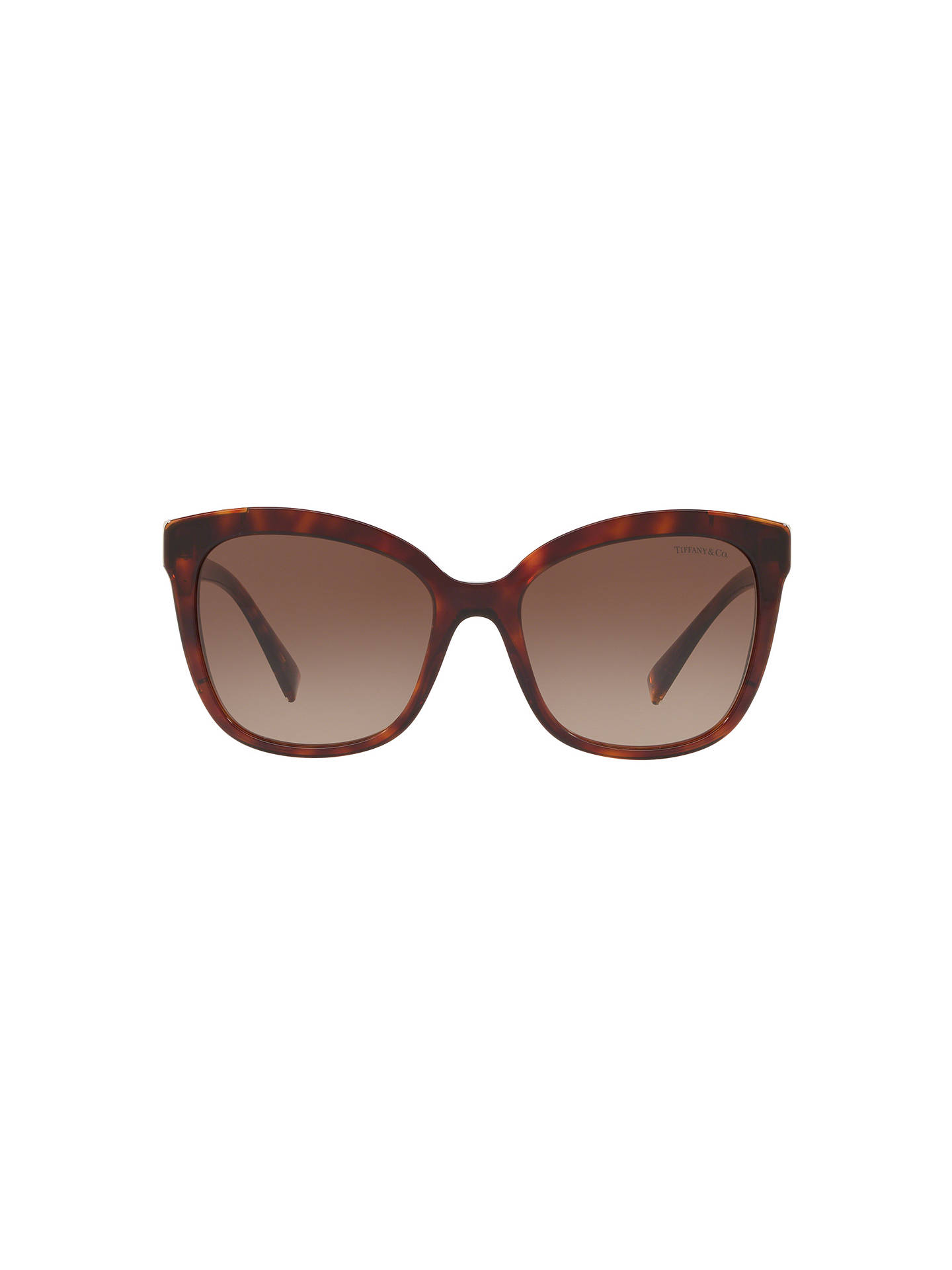 BuyTiffany & Co TF4150 Women's Embellished Square Sunglasses, Tortoise/Brown Gradient Online at johnlewis.com