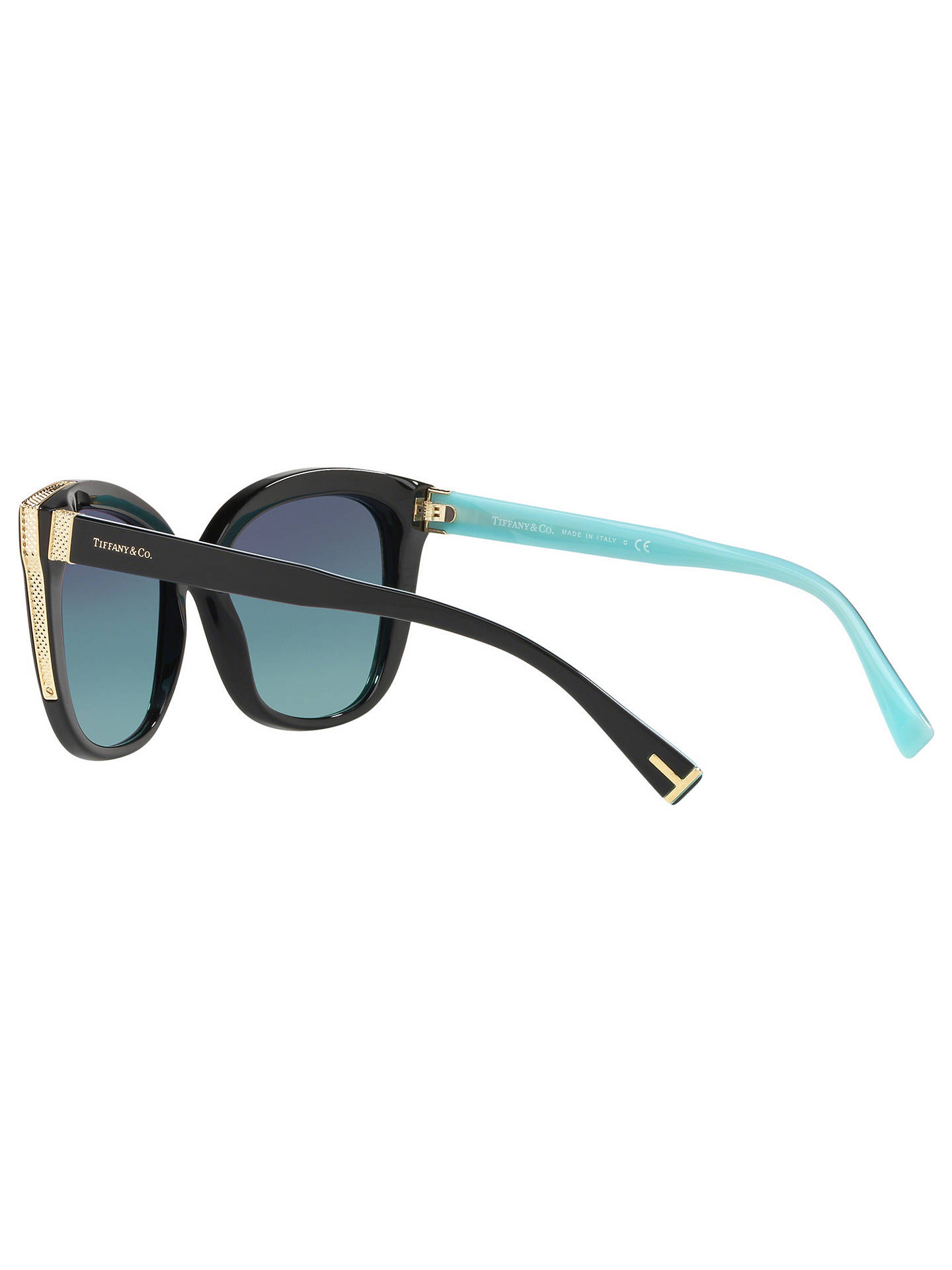 c1c4ad61b5945 Tiffany & Co TF4150 Women's Embellished Square Sunglasses, Black/Blue  Gradient