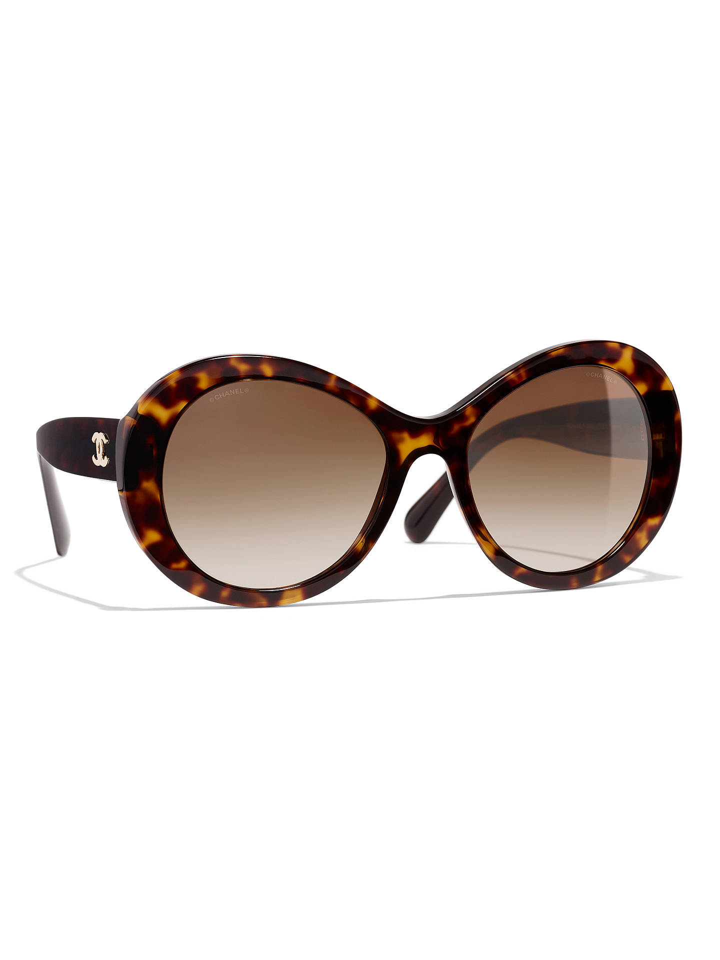 da058f620e24 Buy CHANEL Oval Sunglasses CH5372 Tortoise Brown Gradient Online at  johnlewis.com ...