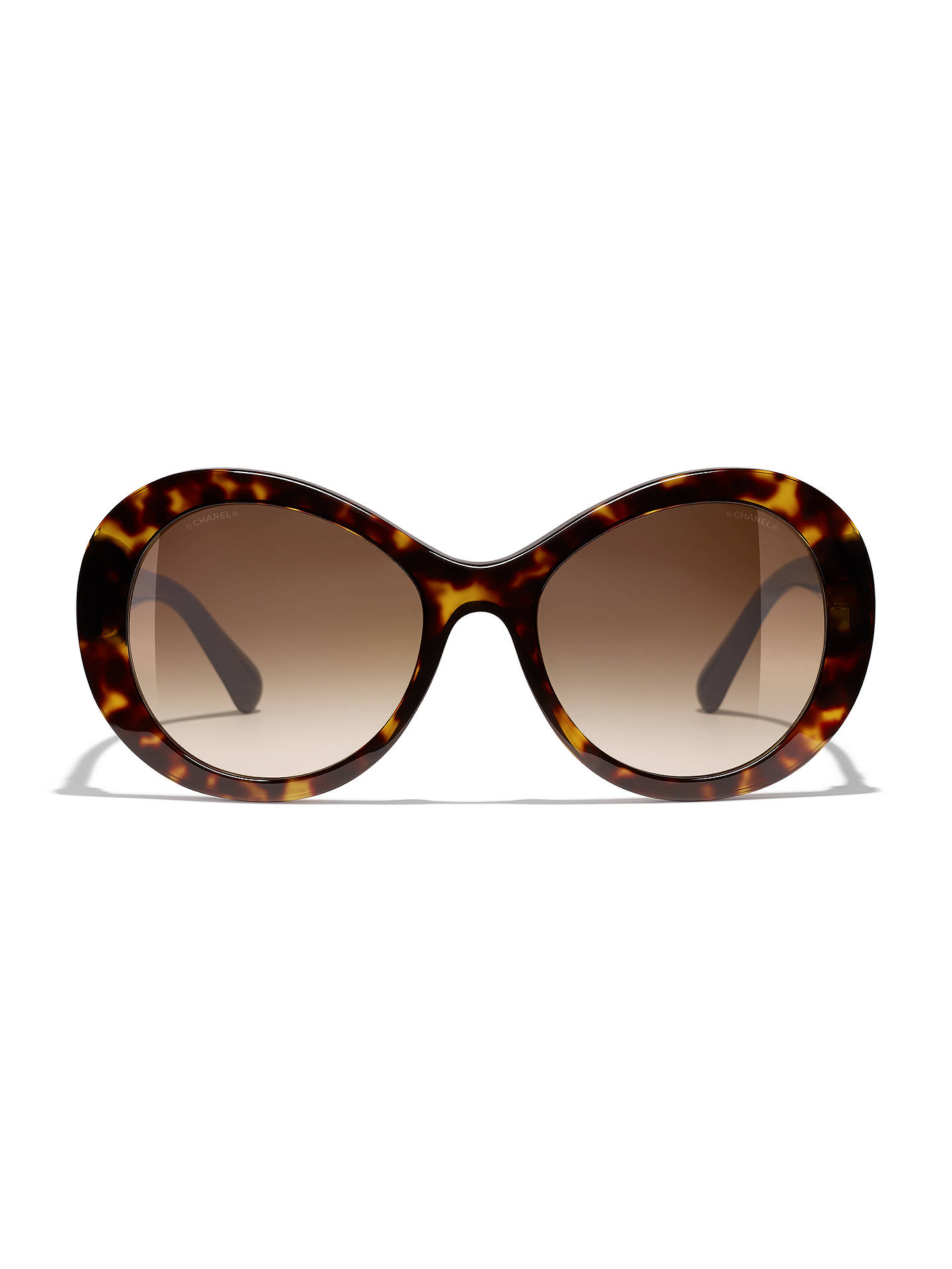 59efbe6d1b8a ... Buy CHANEL Oval Sunglasses CH5372 Tortoise Brown Gradient Online at  johnlewis.com ...