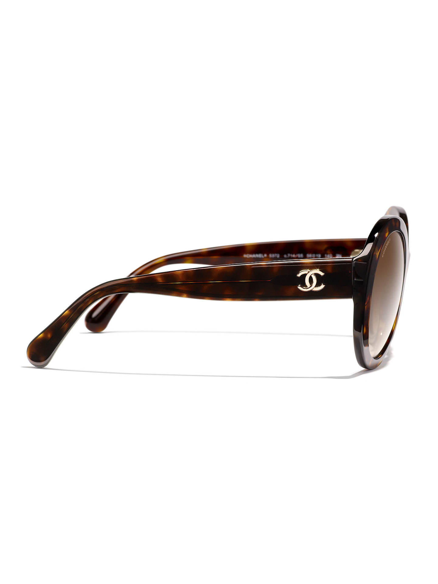 e2493587da67 ... Buy CHANEL Oval Sunglasses CH5372 Tortoise Brown Gradient Online at  johnlewis.com