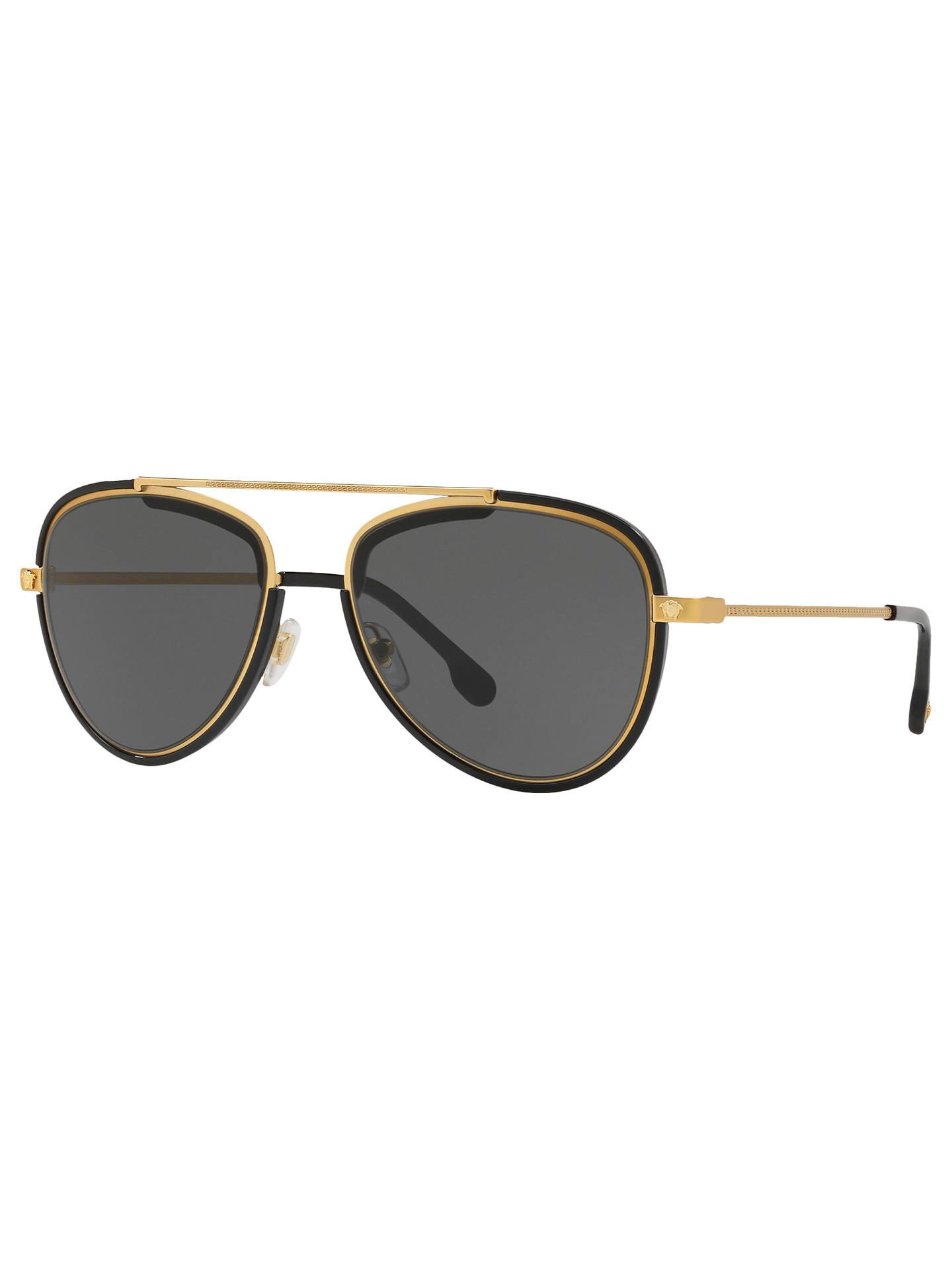 1a1a6d9dec5 Versace VE2193 Men s Aviator Sunglasses at John Lewis   Partners