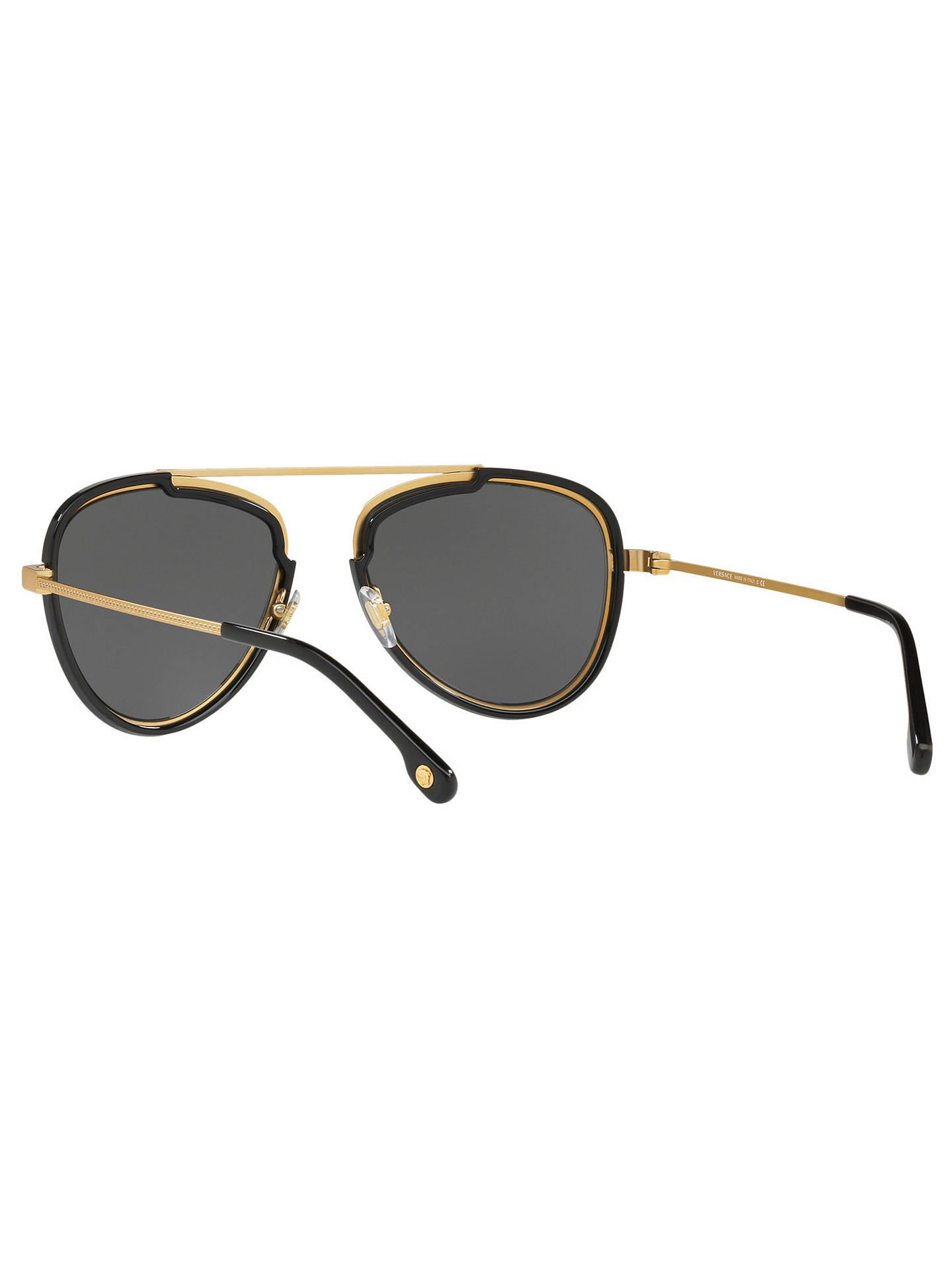 18f2aafd0748 Versace VE2193 Men s Aviator Sunglasses at John Lewis   Partners