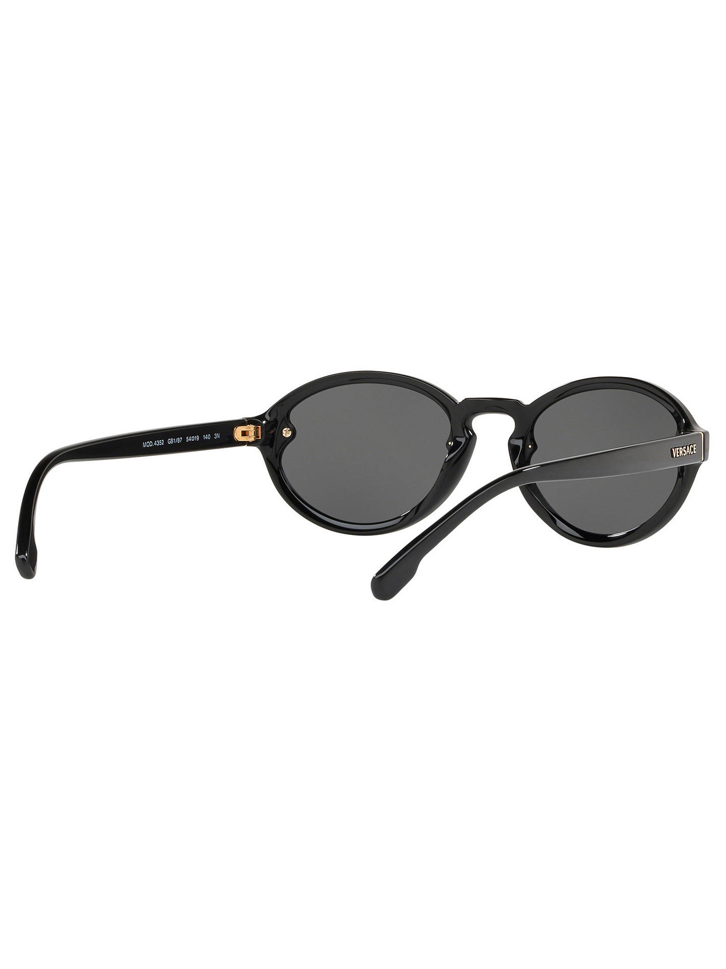 4f9f70d1d7 Versace VE4352 Unisex Oval Sunglasses at John Lewis   Partners