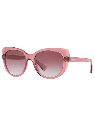 Ralph RA5243 Women's Cat's Eye Sunglasses, Pink/Purple Gradient