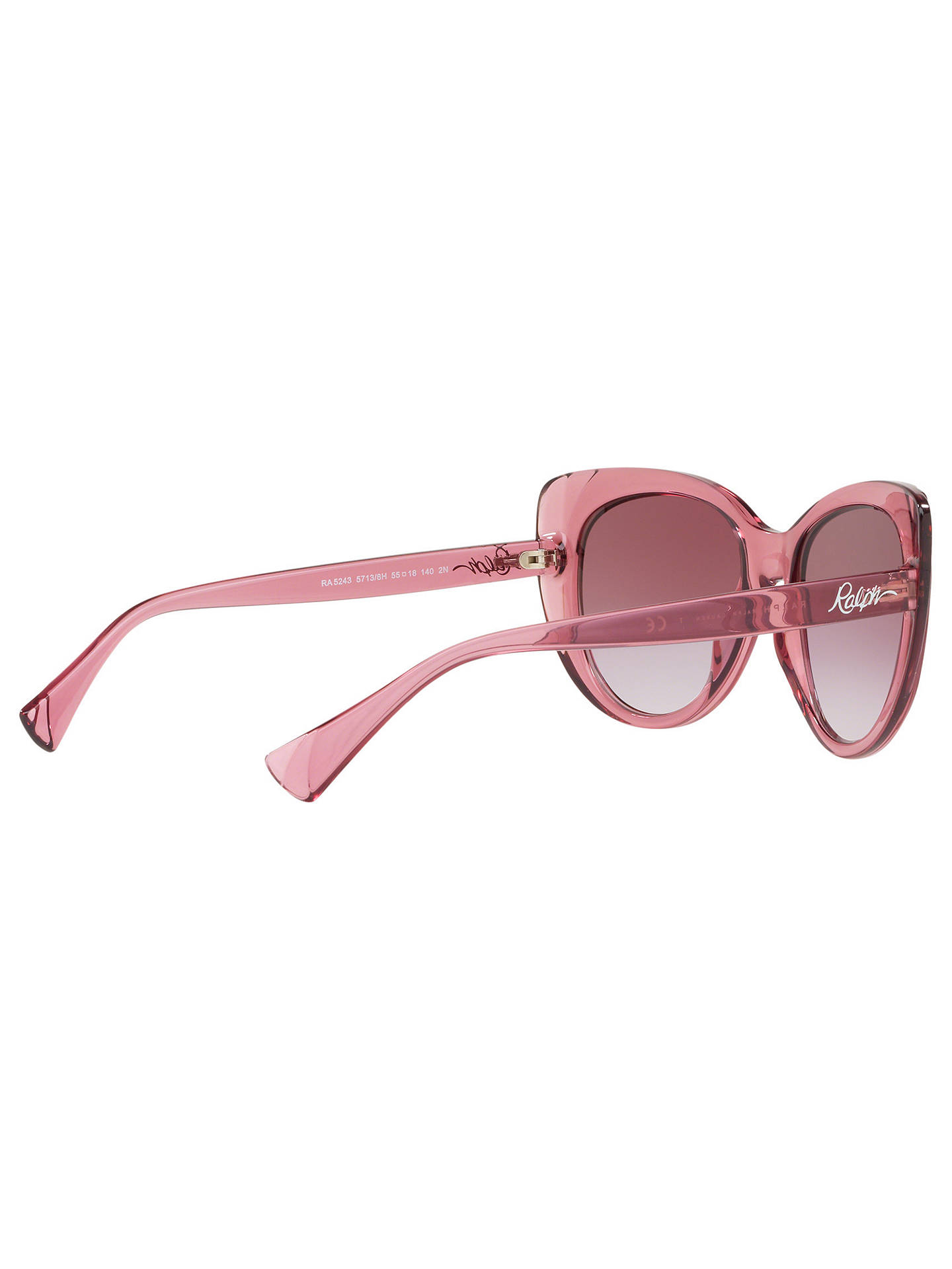 Buy Ralph RA5243 Women's Cat's Eye Sunglasses, Pink/Purple Gradient Online at johnlewis.com