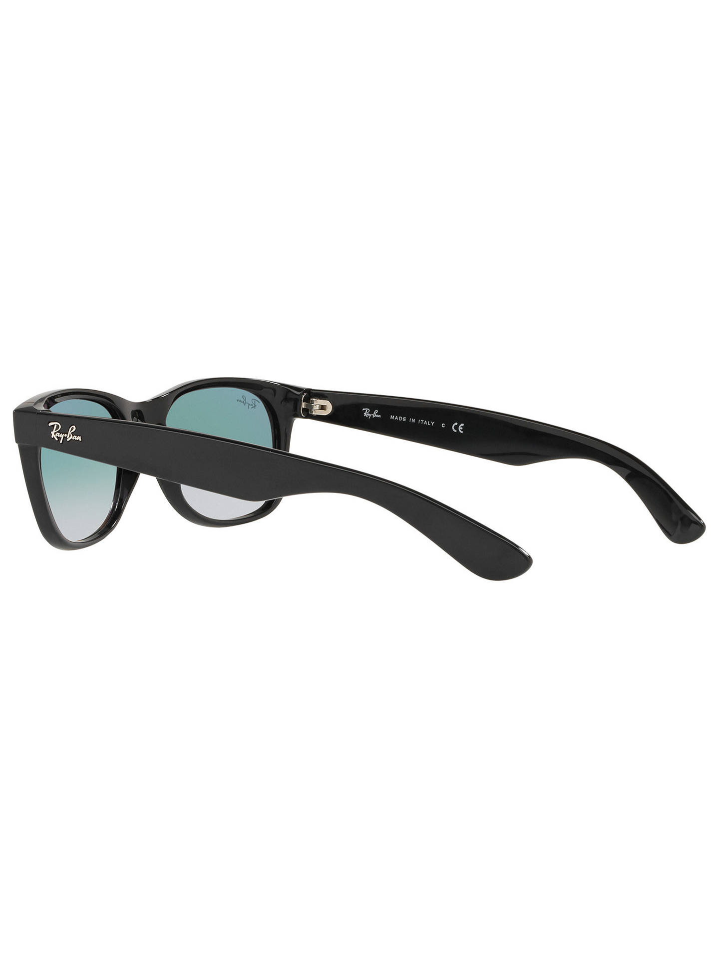 BuyRay-Ban RB2132 Men's New Wayfarer Sunglasses, Black/ Blue Gradient Online at johnlewis.com