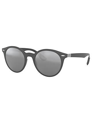 Ray-Ban RB4296 Unisex Oval Sunglasses, Grey/Mirror Grey