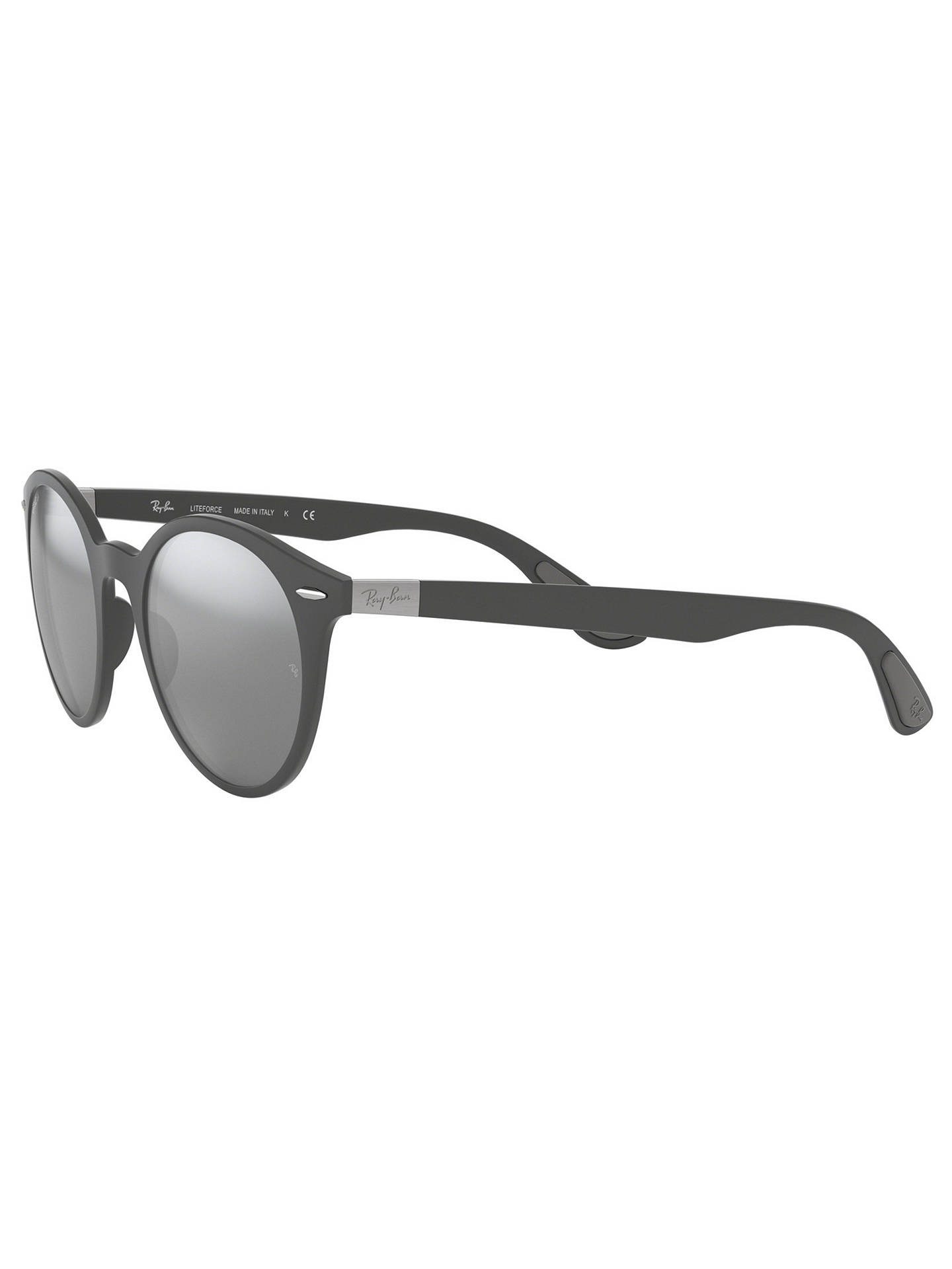 BuyRay-Ban RB4296 Unisex Oval Sunglasses, Grey/Mirror Grey Online at johnlewis.com