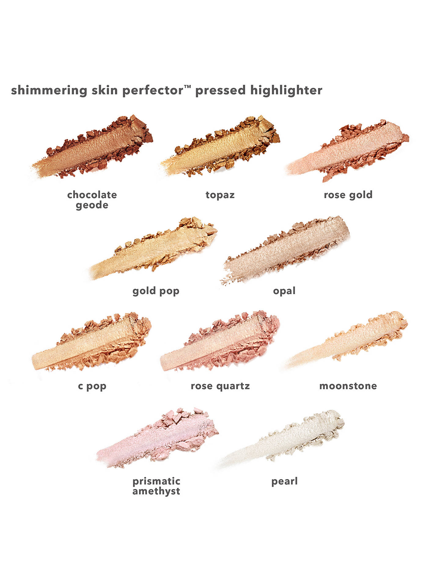 Buy BECCA Shimmering Skin Perfector™ Pressed Highlighter, Chocolate Geode Online at johnlewis.com