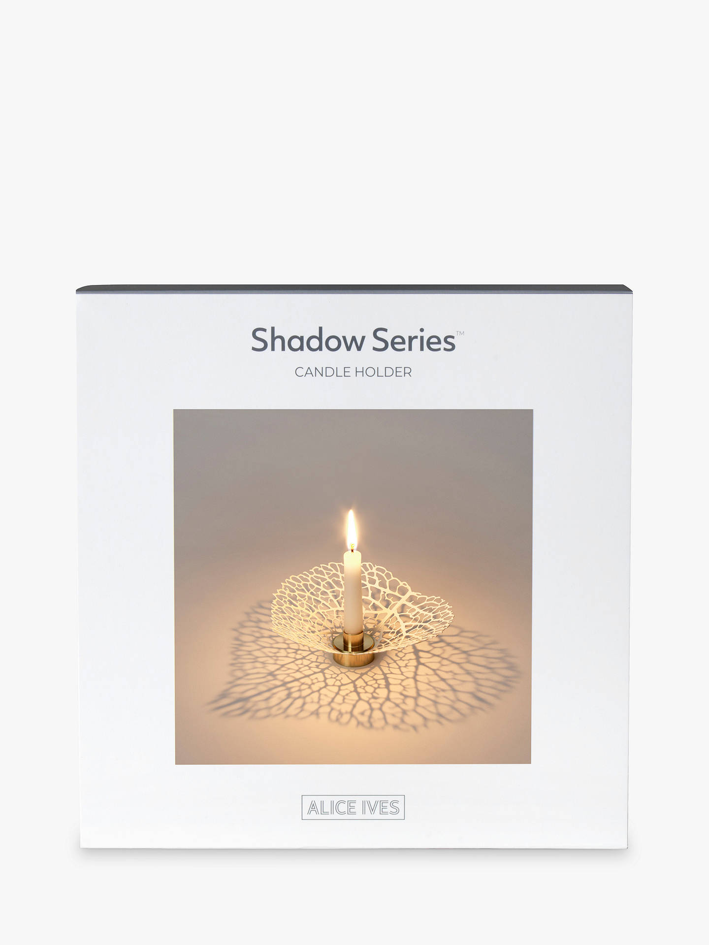 BuyAlice Ives Shadow Series Hydrangea Candle Holder Online at johnlewis.com