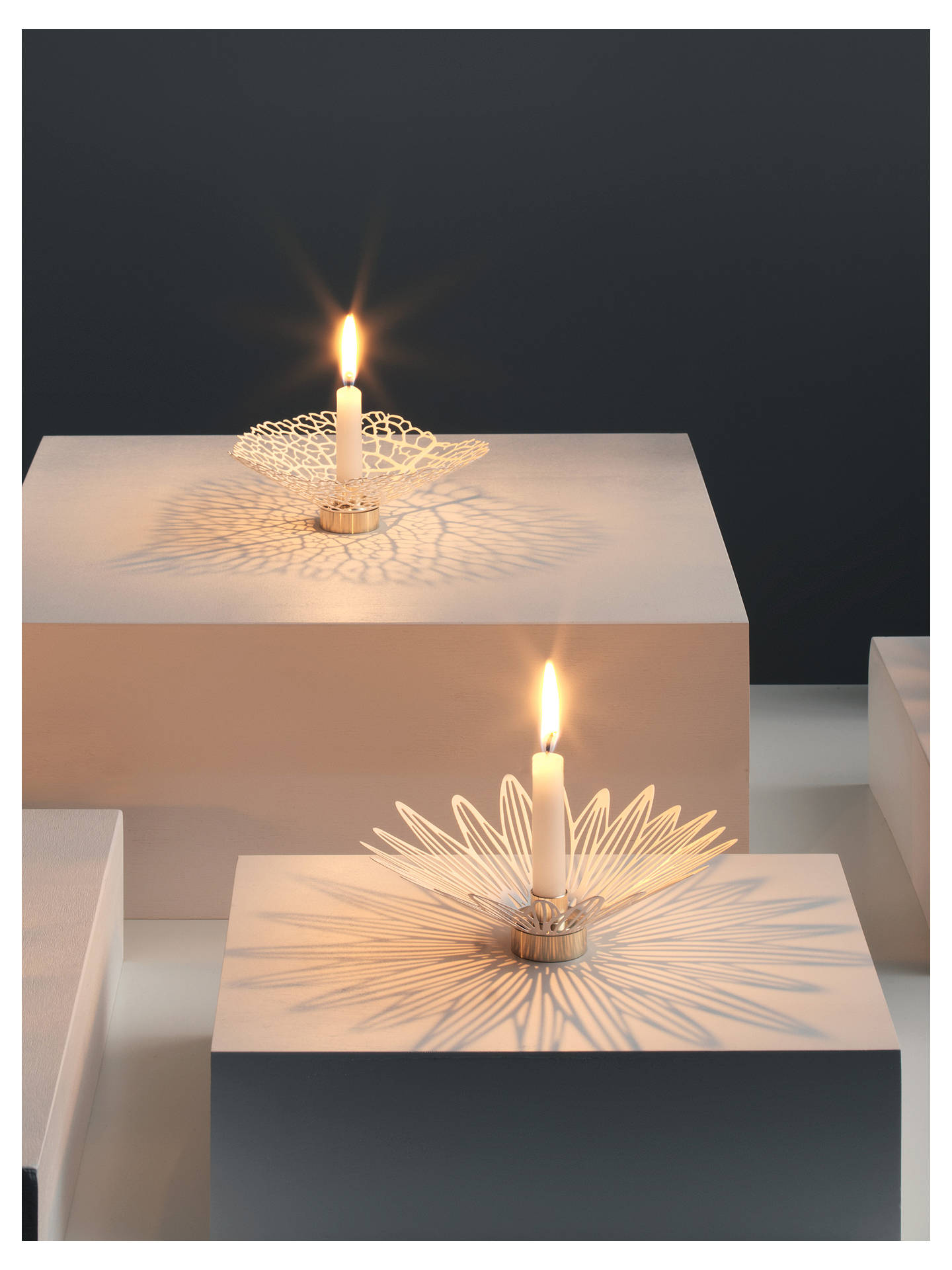 Buy Alice Ives Shadow Series Triangles Candle Holder Online at johnlewis.com