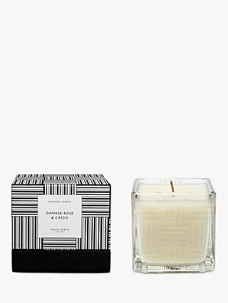 John Lewis & Partners Cassis Scented Candle, 300g