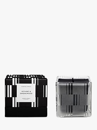 John Lewis & Partners Vetivert & Sandlewood Scented Candle, 300g