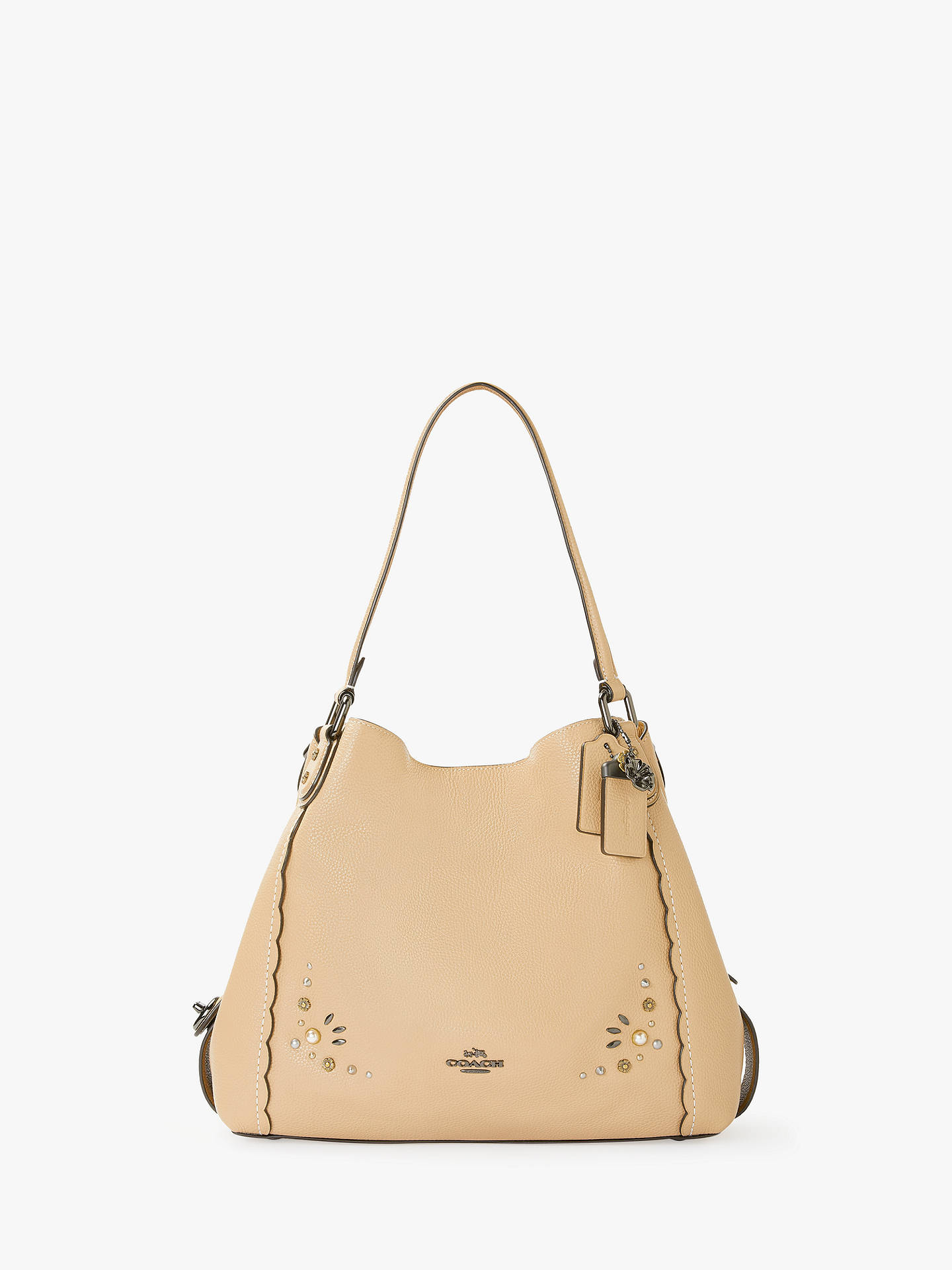 Coach Edie 31 Polished Pebble Leather Shoulder Bag at John Lewis ... 9fdc4e6cd3feb