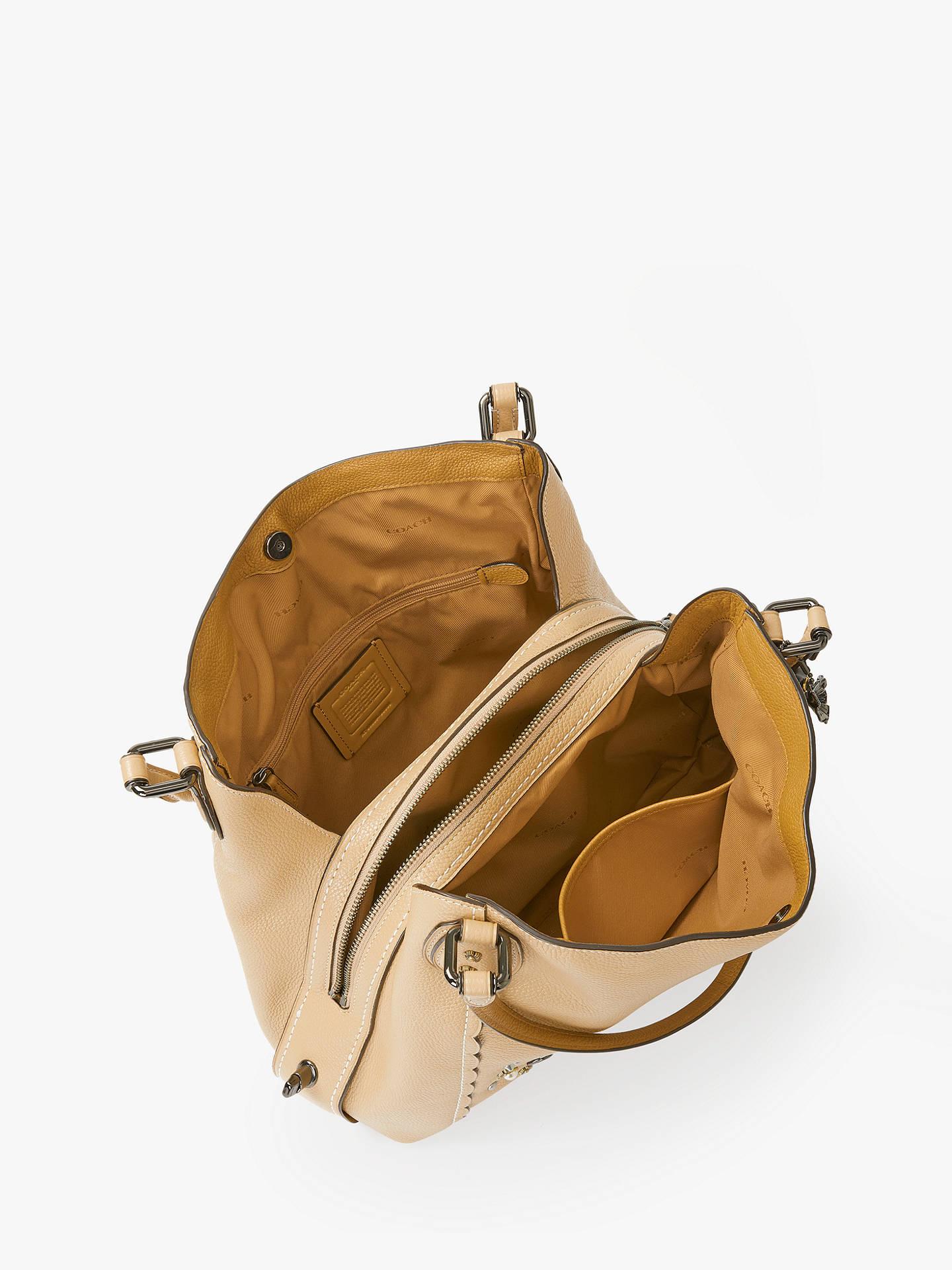 567fdd8f6fab Coach Edie 31 Polished Pebble Leather Shoulder Bag at John Lewis ...